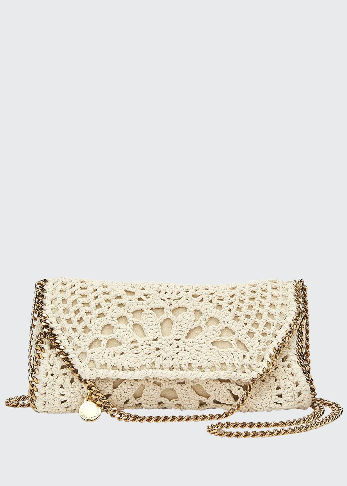 Stella McCartney Falabella Mini Crochet Fold-Over Crossbody Bag