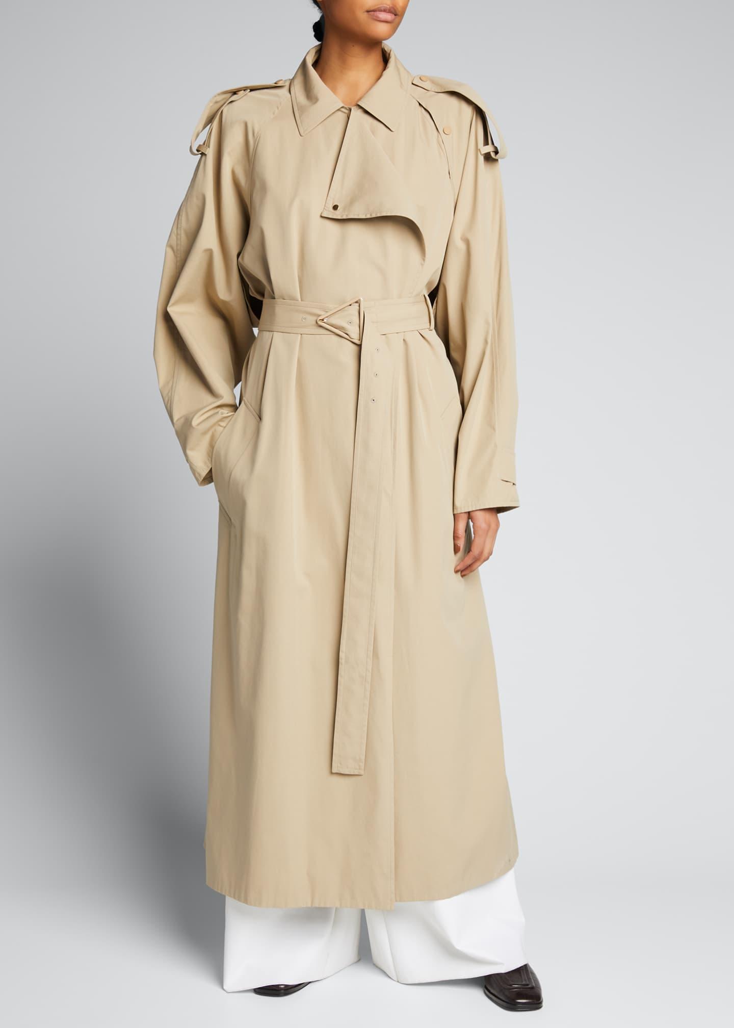 Bottega Veneta Compact Cotton Classic Trench Coat