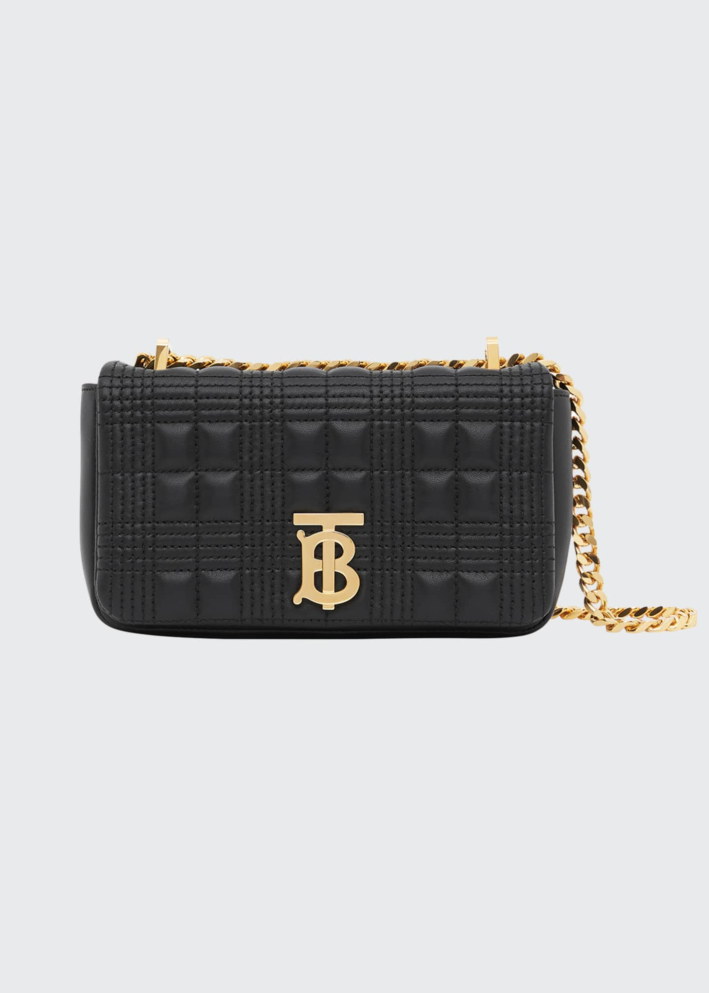 Burberry Lola Quilted Leather Crossbody Bag