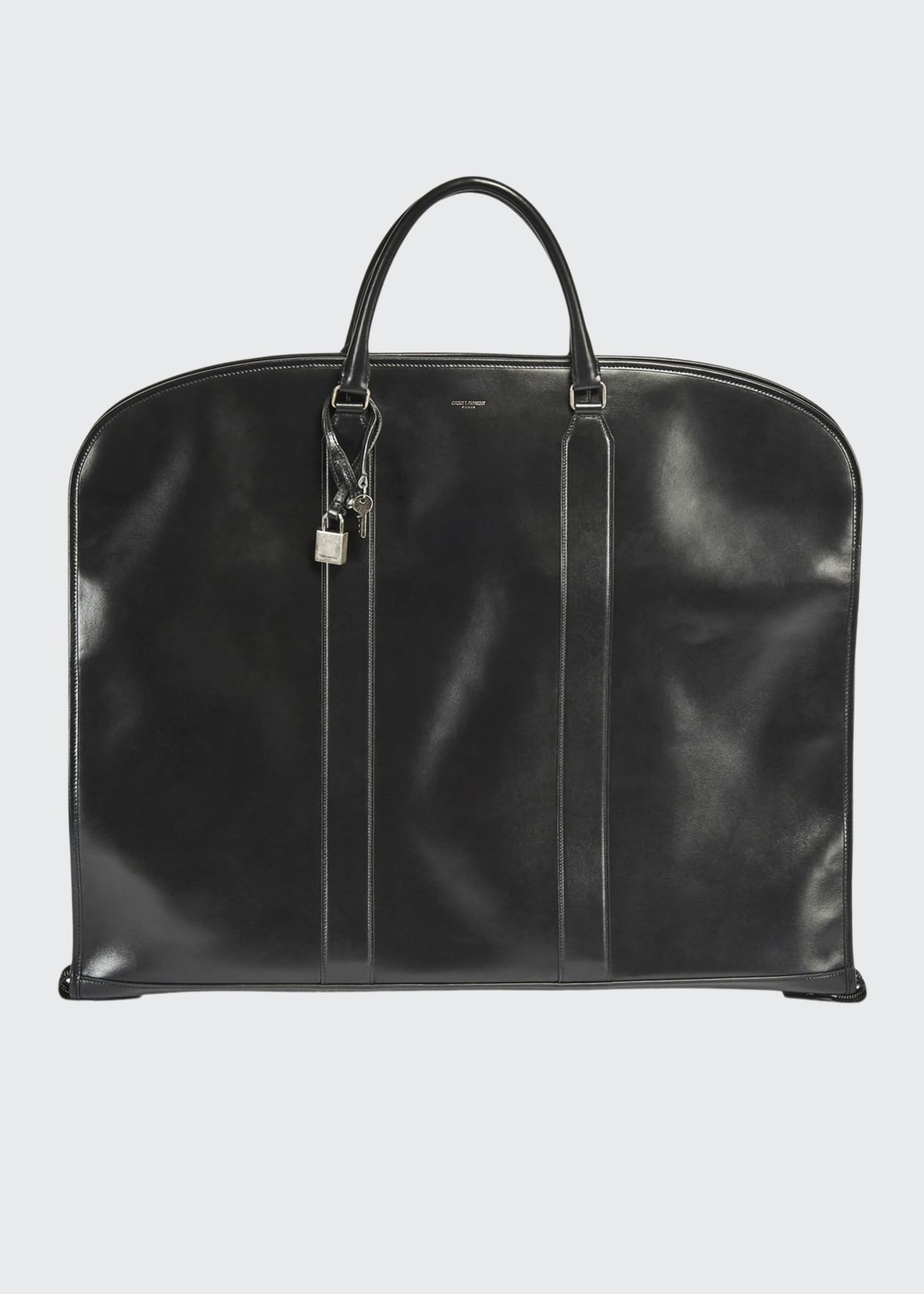 Image 1 of 3: Men's Leather Suit Garment Bag Luggage