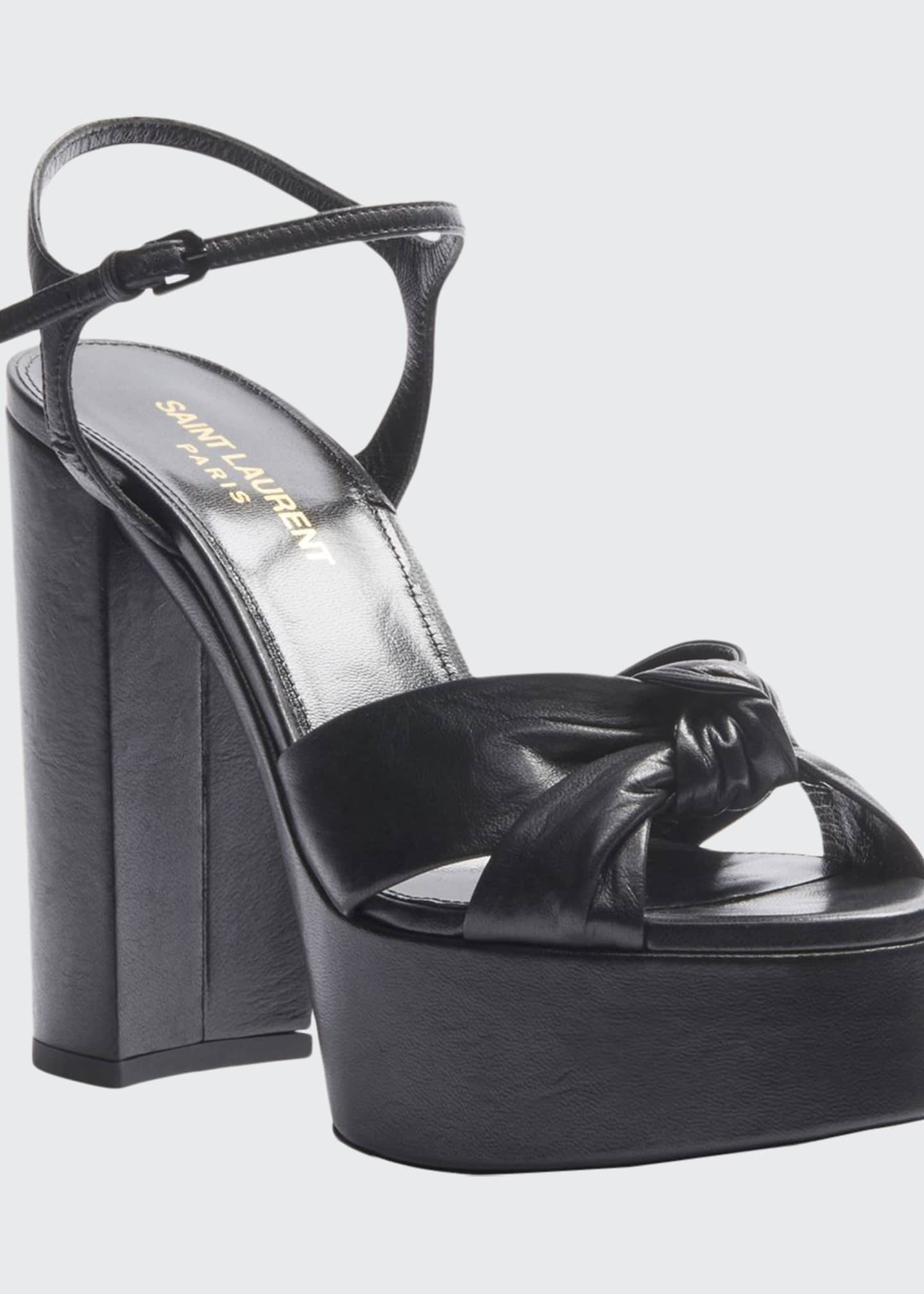 Saint Laurent Bianca Node 85mm Platform Sandals