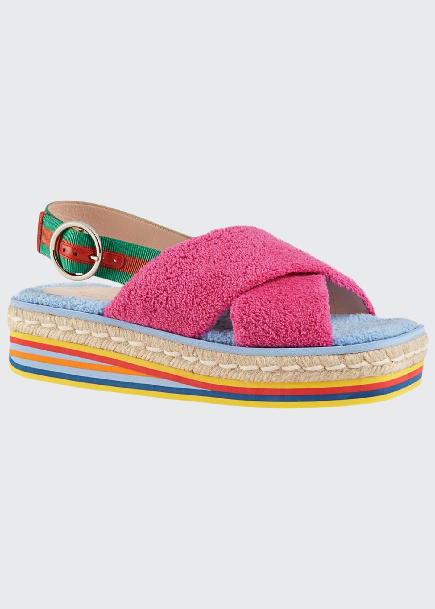 Gucci Huma 50mm Sponge Wedge Sandals