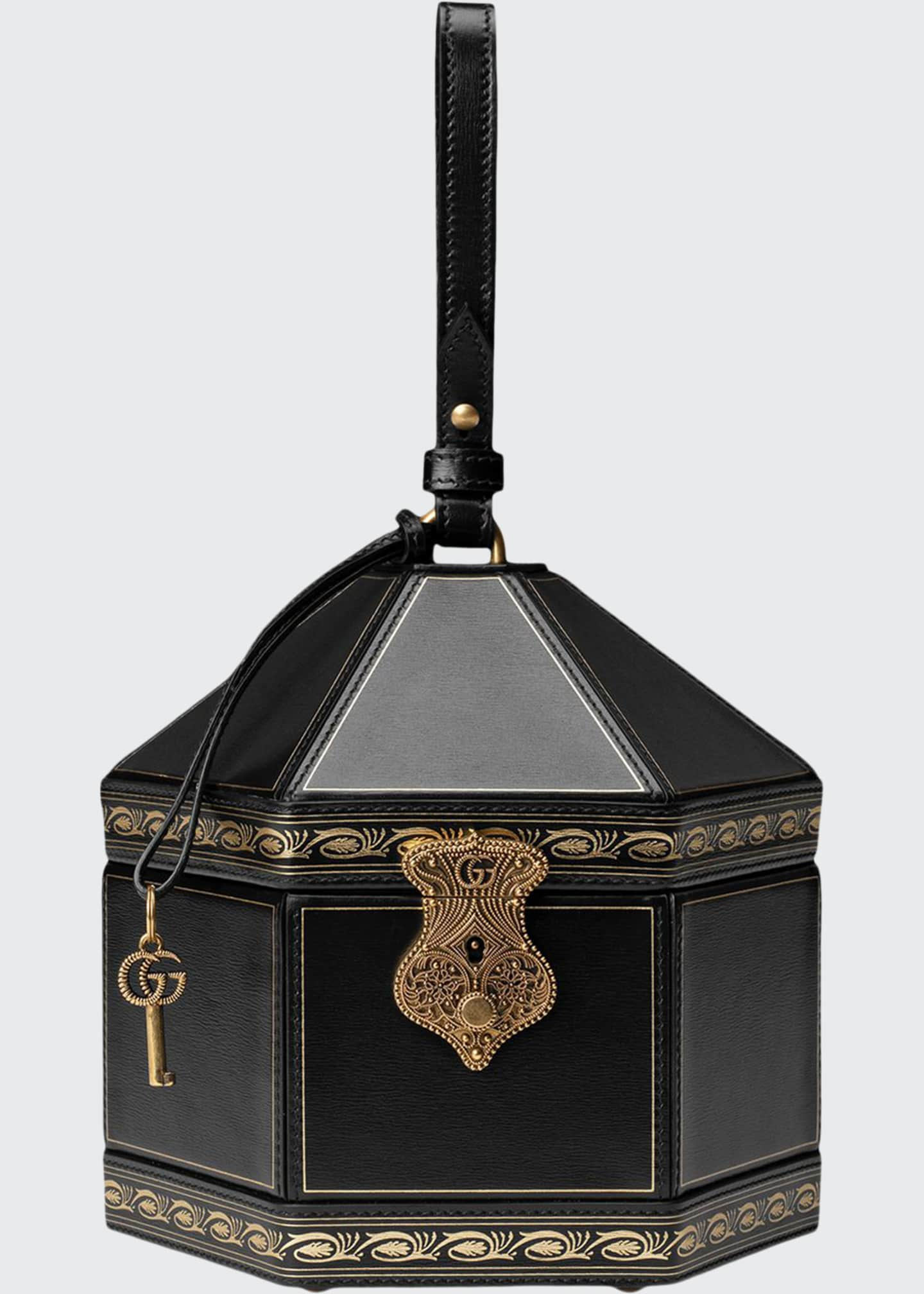 Gucci Geometrica Mini Leather Top-Handle Bag