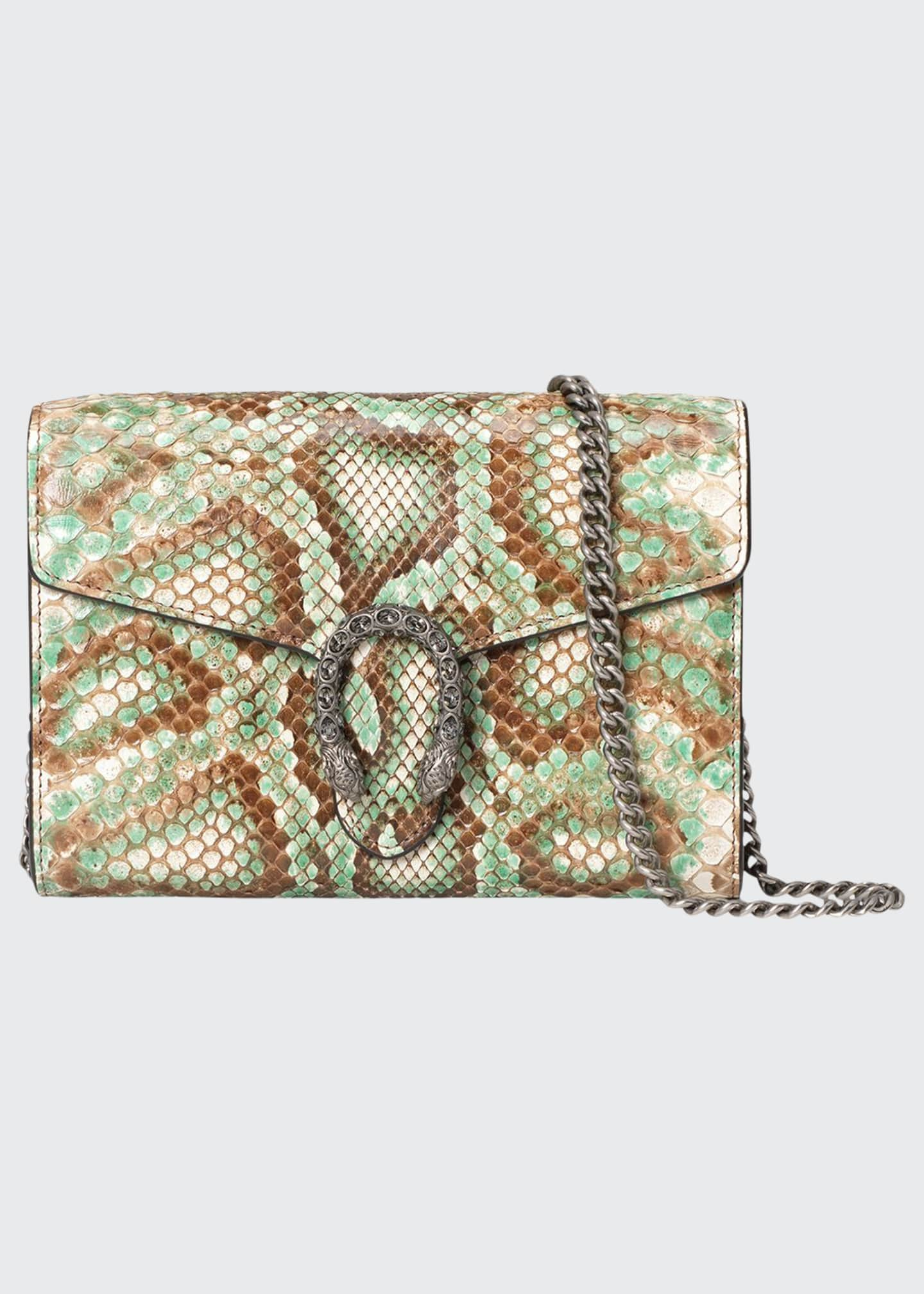 Gucci Dionysus Mini Python Chain Bag