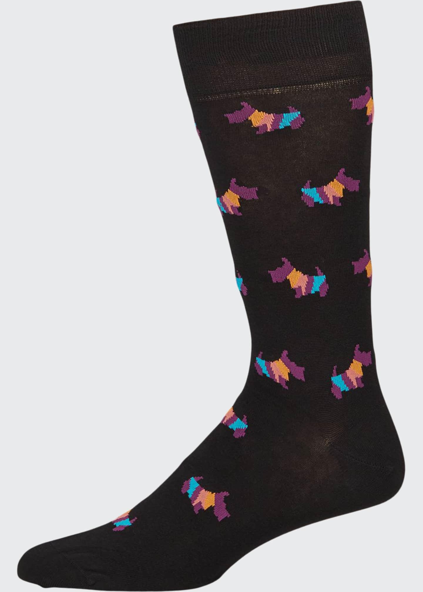 Paul Smith Men's Artist Dog Graphic Socks