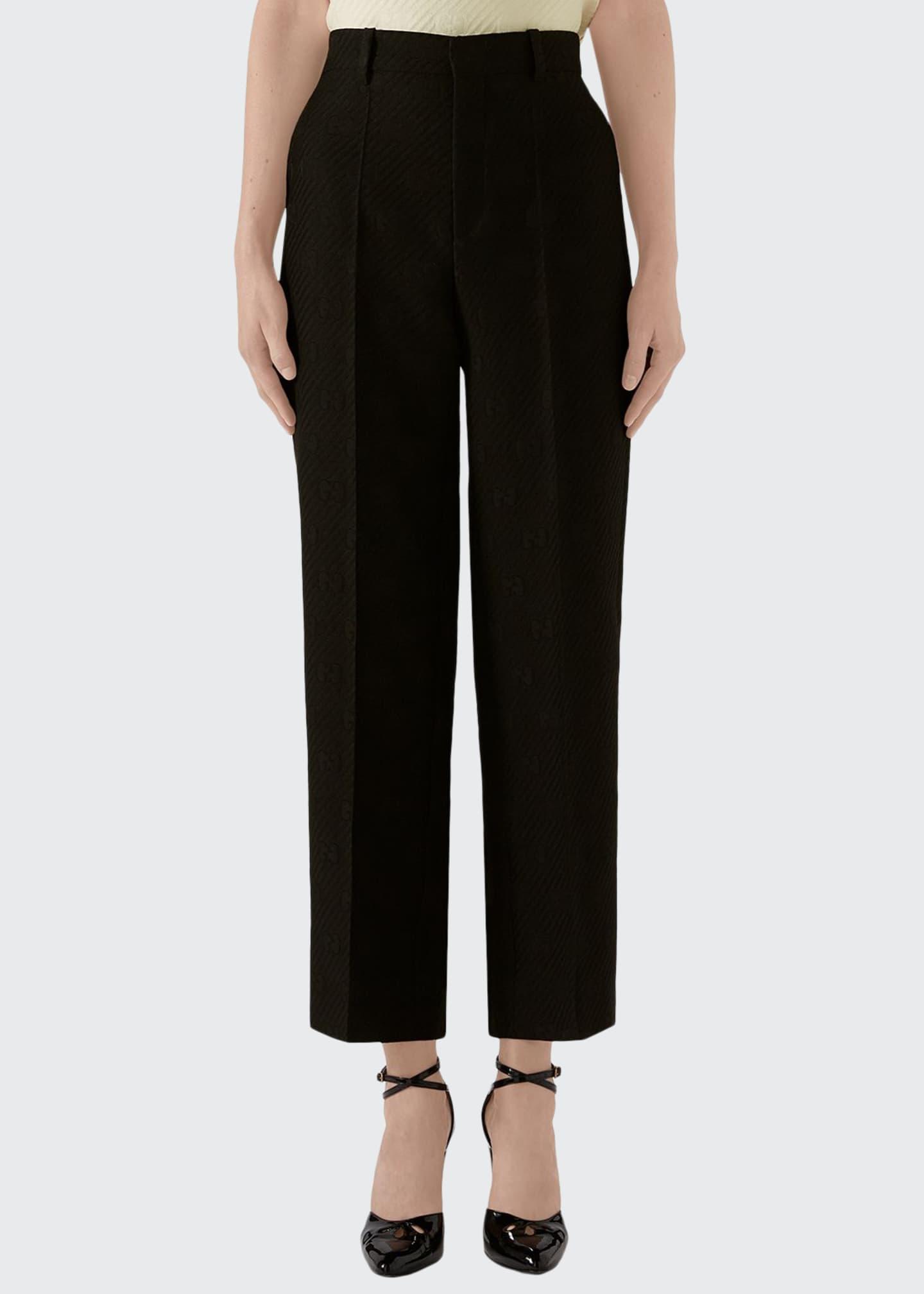 Gucci Diagonal GG Stripe Wool/Silk Pants