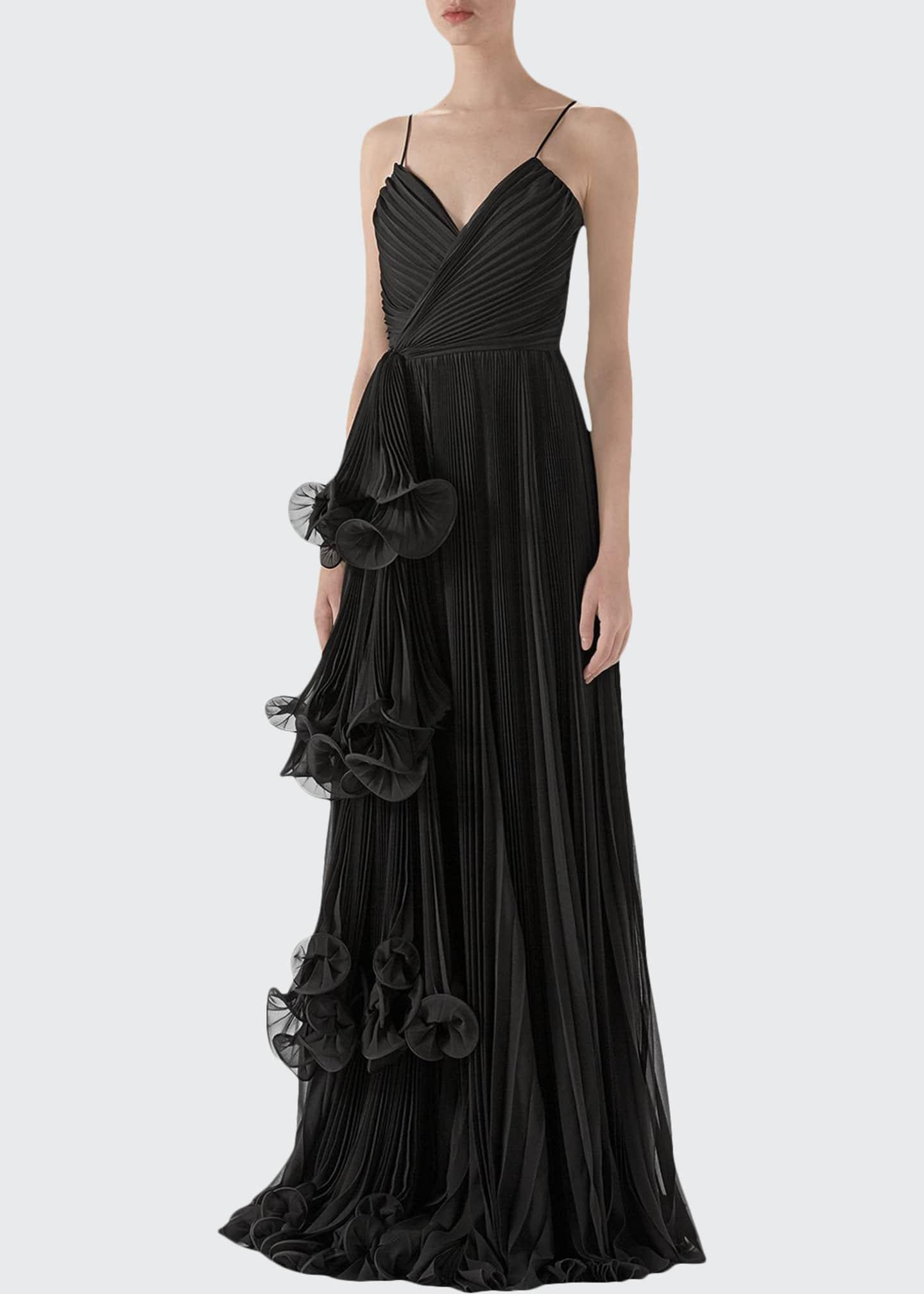 Gucci Light Silk Georgette Plisse Gown
