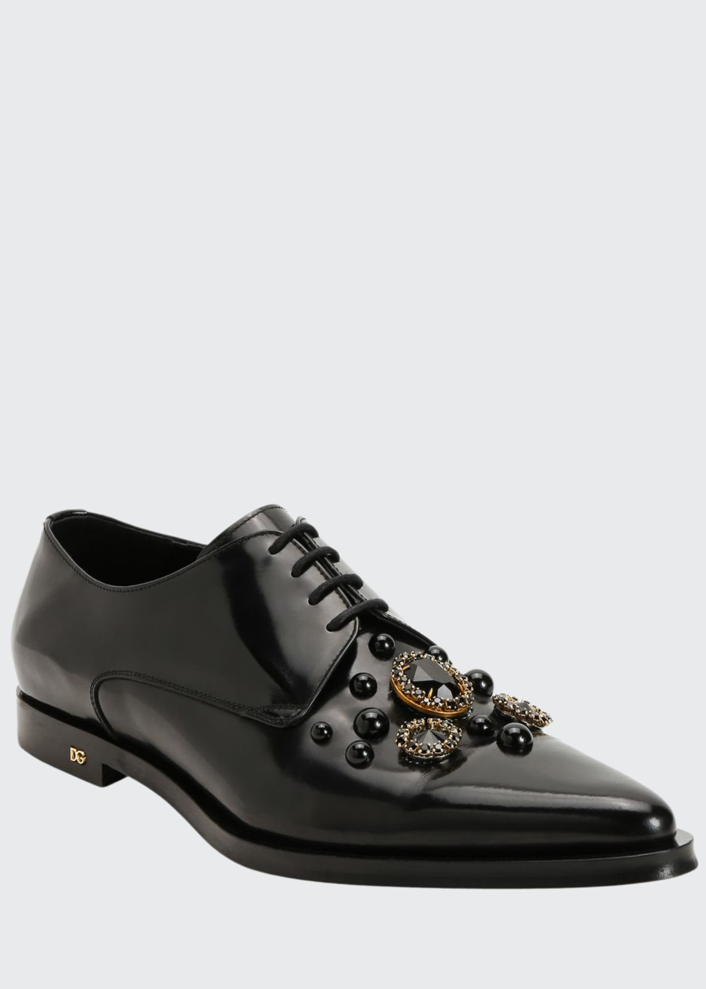 Image 1 of 4: Men's DNA Embellished Point-Toe Derby Shoes