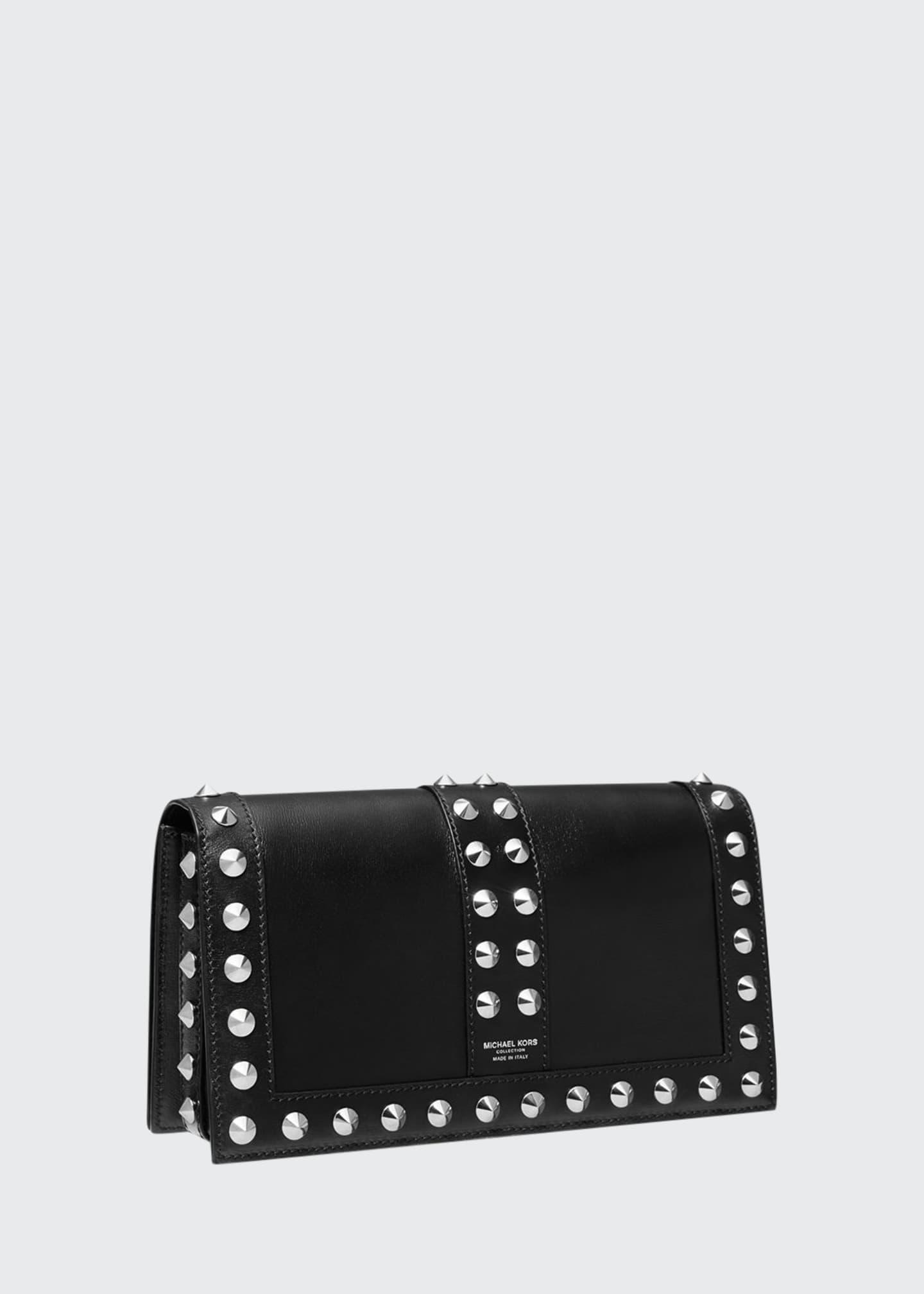Michael Kors Cone Stud Leather Shoulder Bag