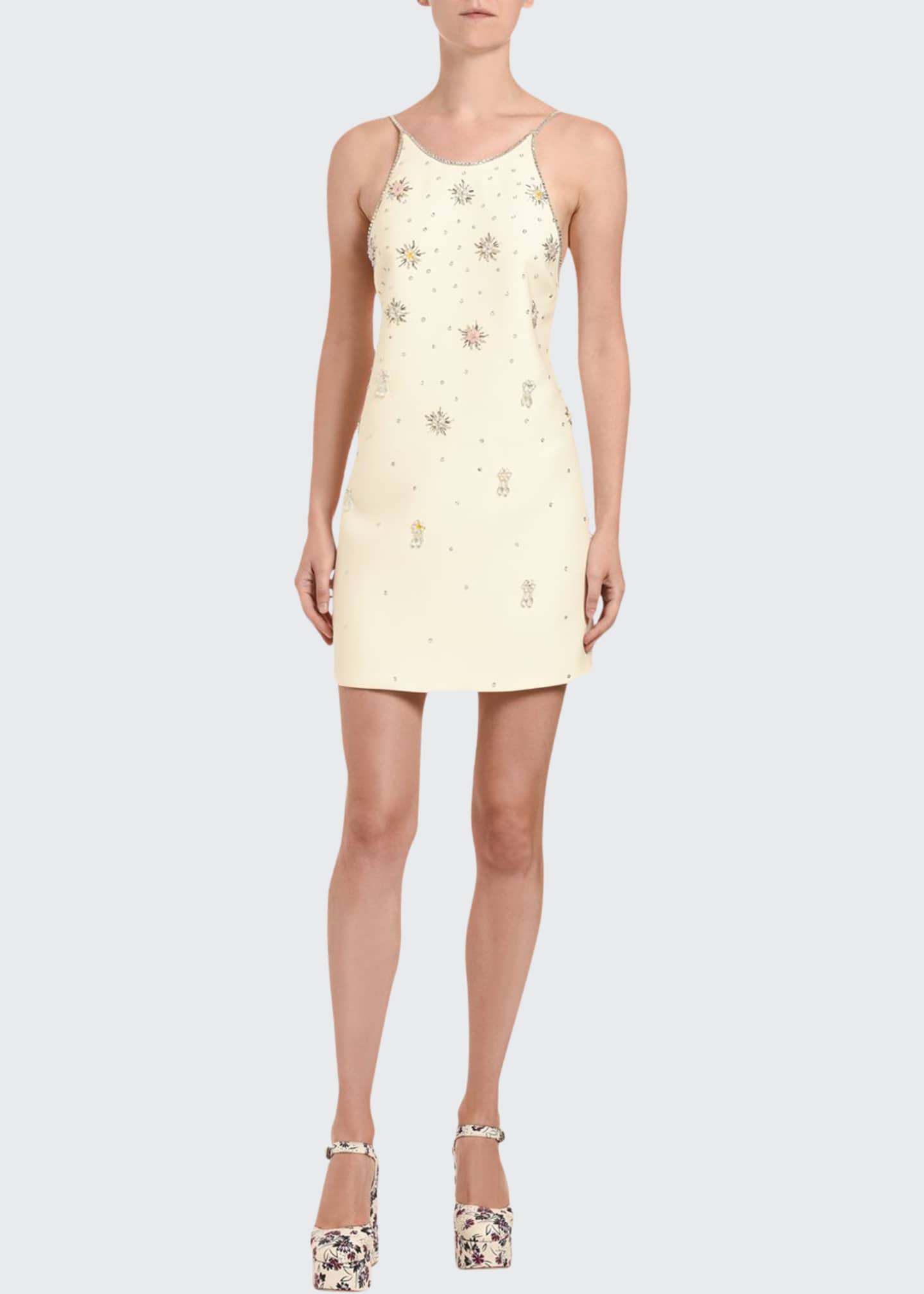 Image 1 of 3: Embroidered Cocktail Dress
