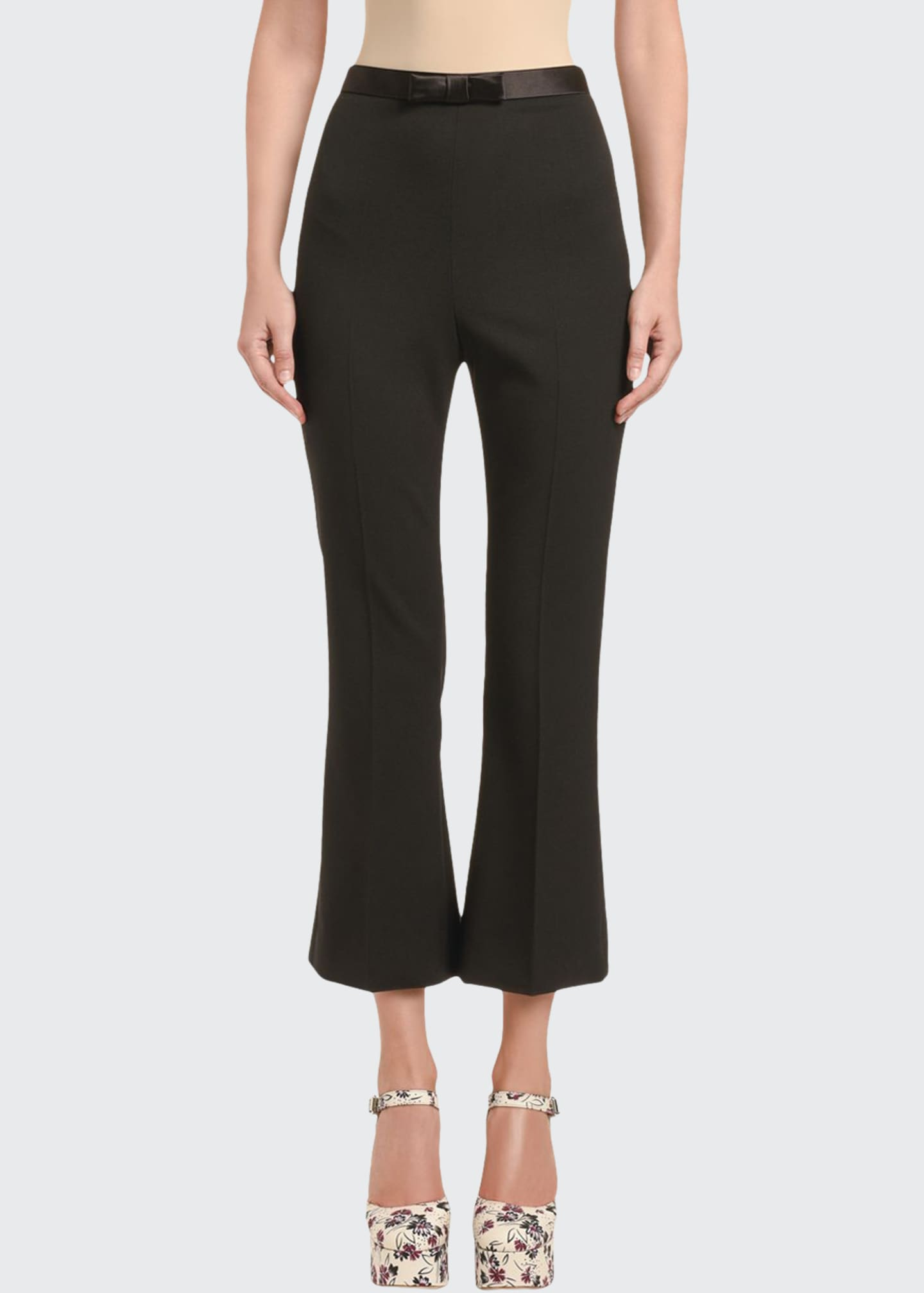 Image 1 of 3: Cady Flare Pants with Bow
