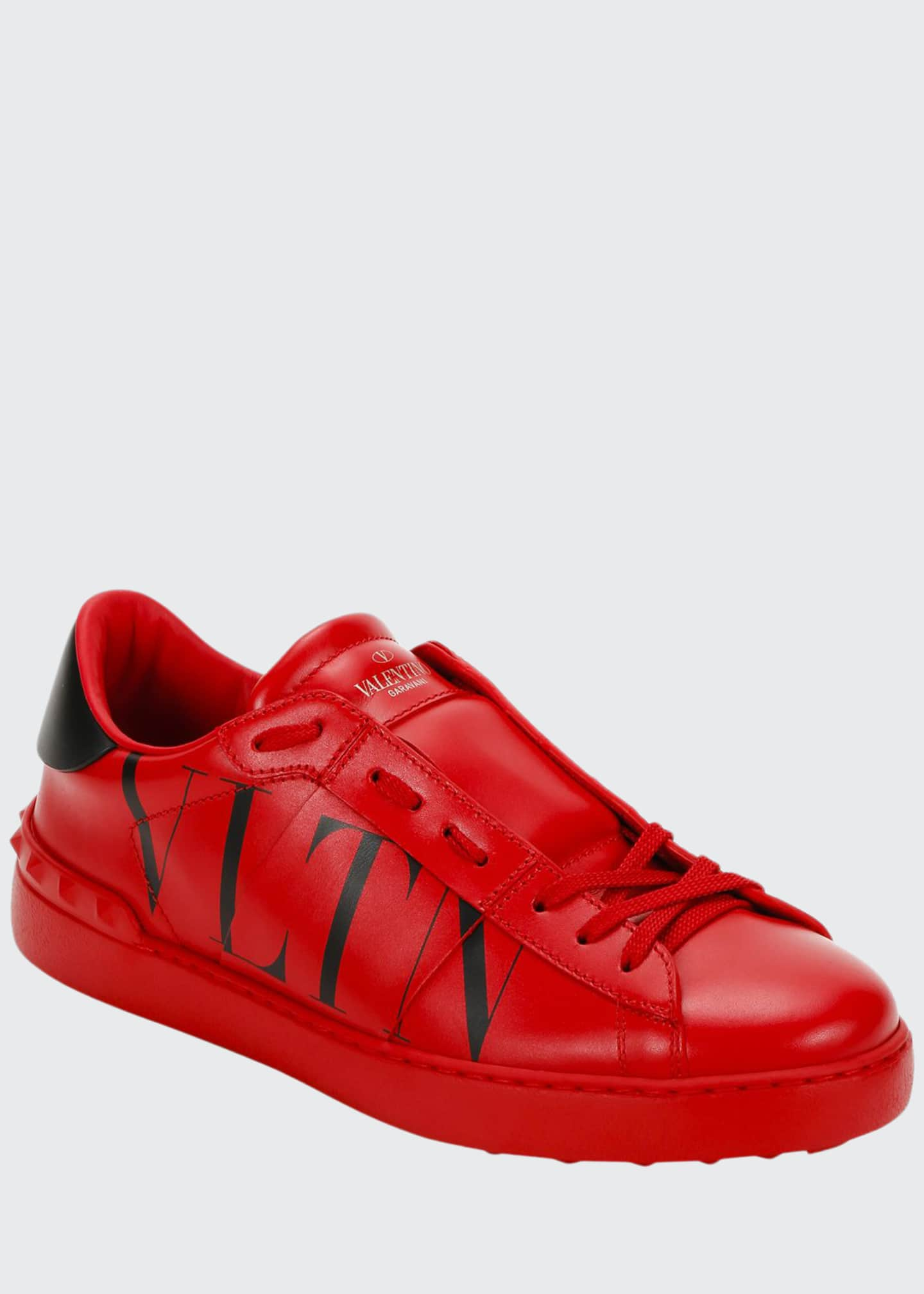 Image 1 of 4: Men's Rockstud Walker VLTN Leather Sneakers