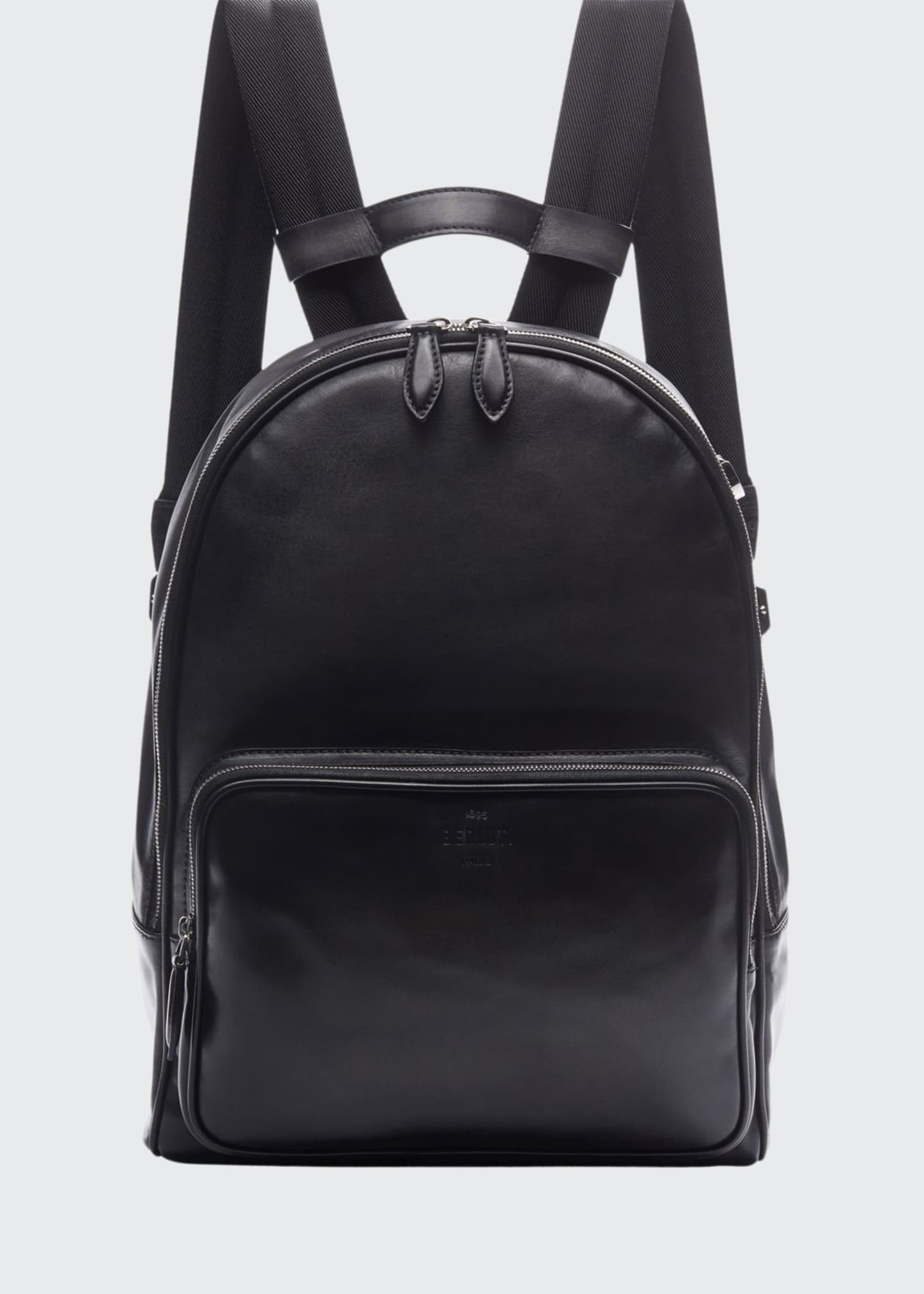 Image 1 of 3: Men's Time off Venezia Solid Leather Backpack