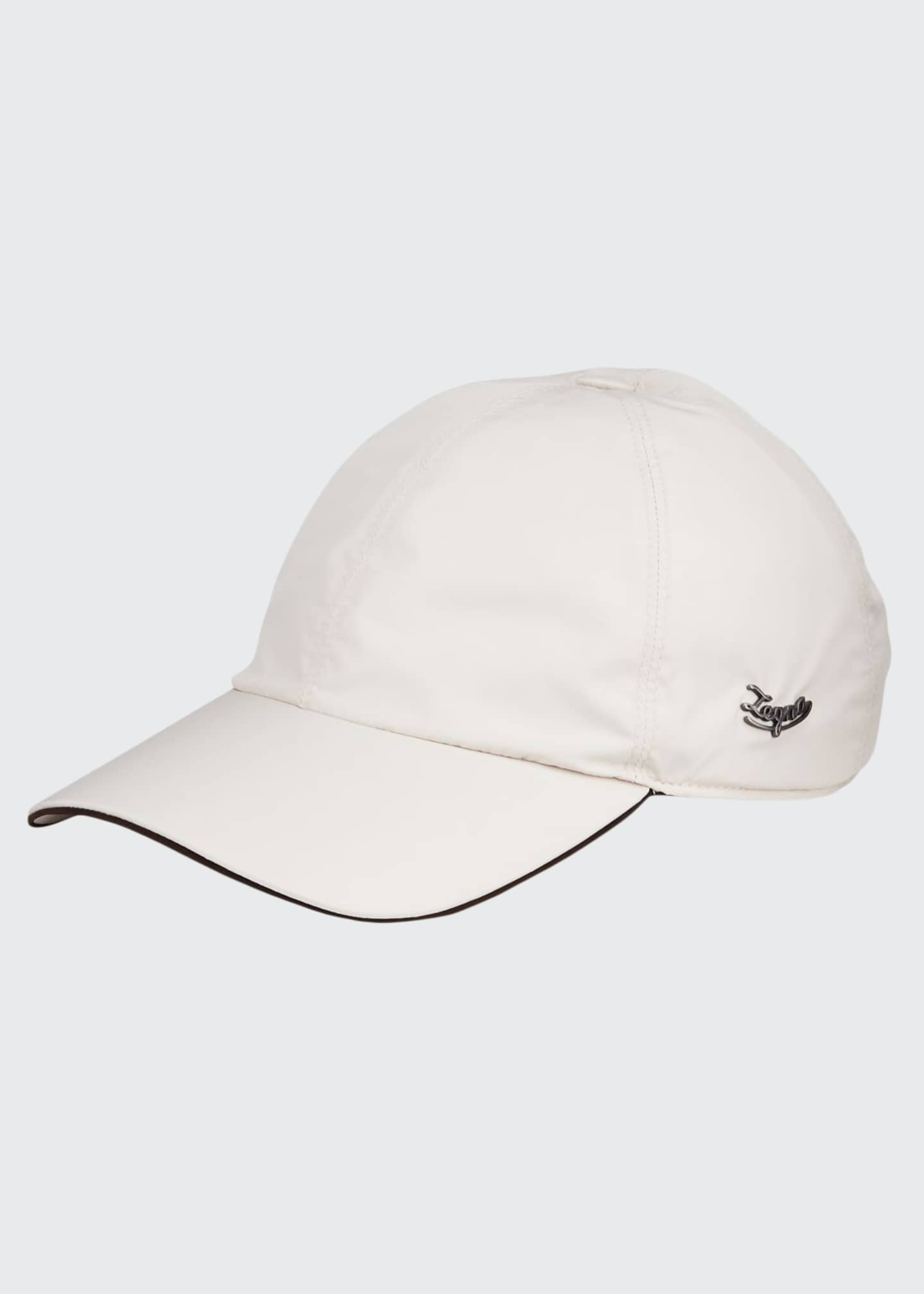 Image 1 of 2: Men's Contrast-Trim Logo Baseball Cap