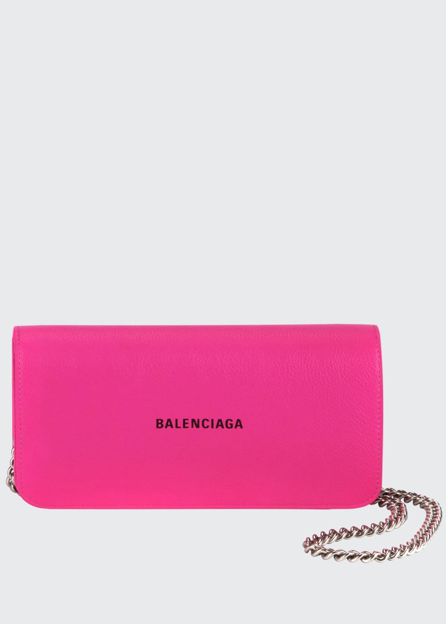 Balenciaga Cash Continental Wallet-On-Chain, Fuchsia