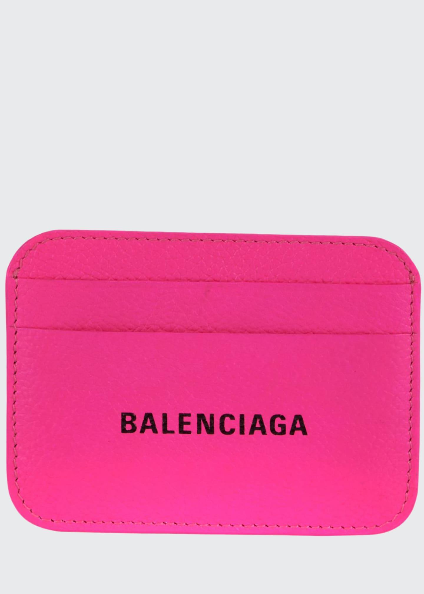 Balenciaga Grained Cash Card Holder