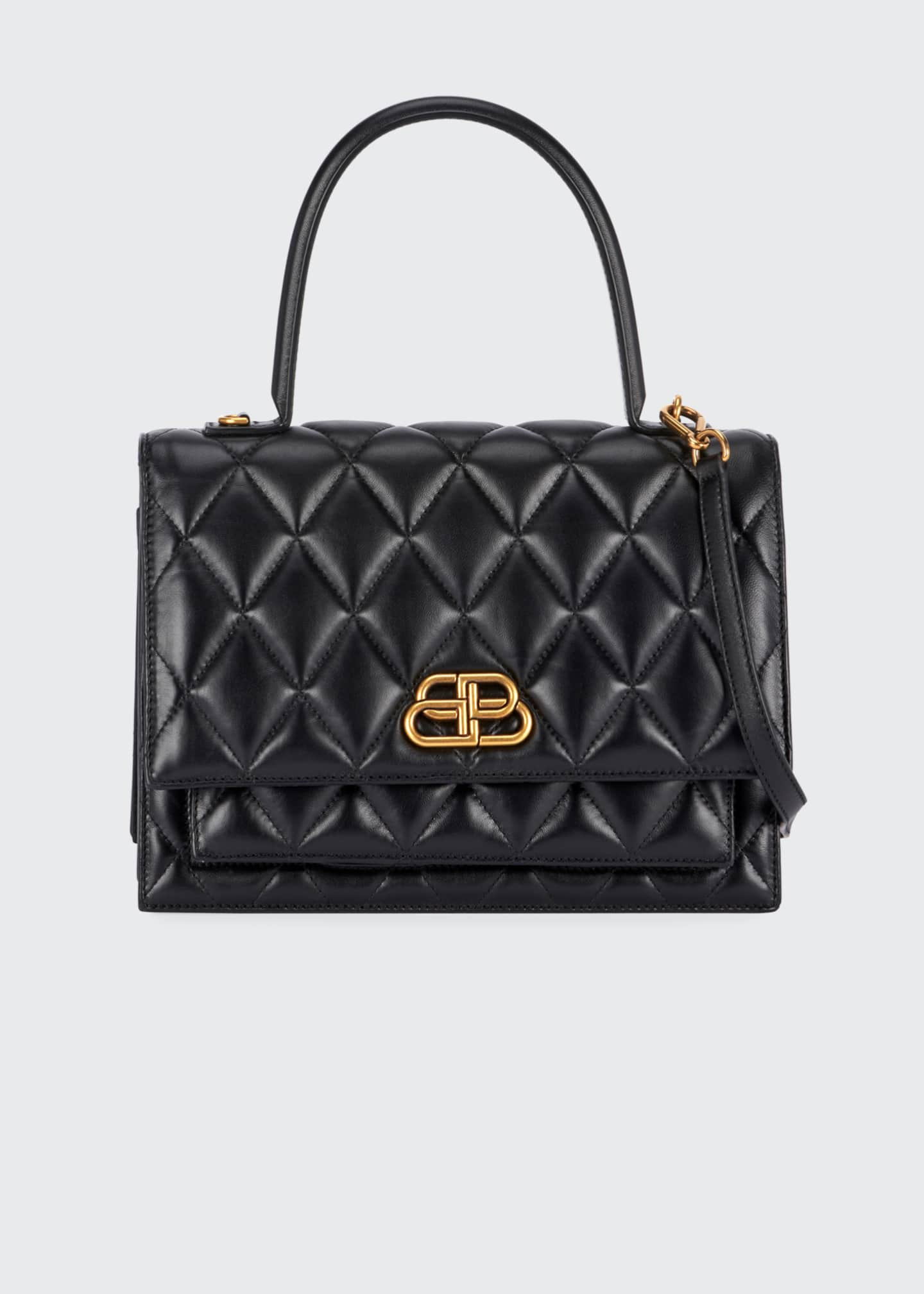 Balenciaga Sharp Medium AJ Quilted Top Handle Bag