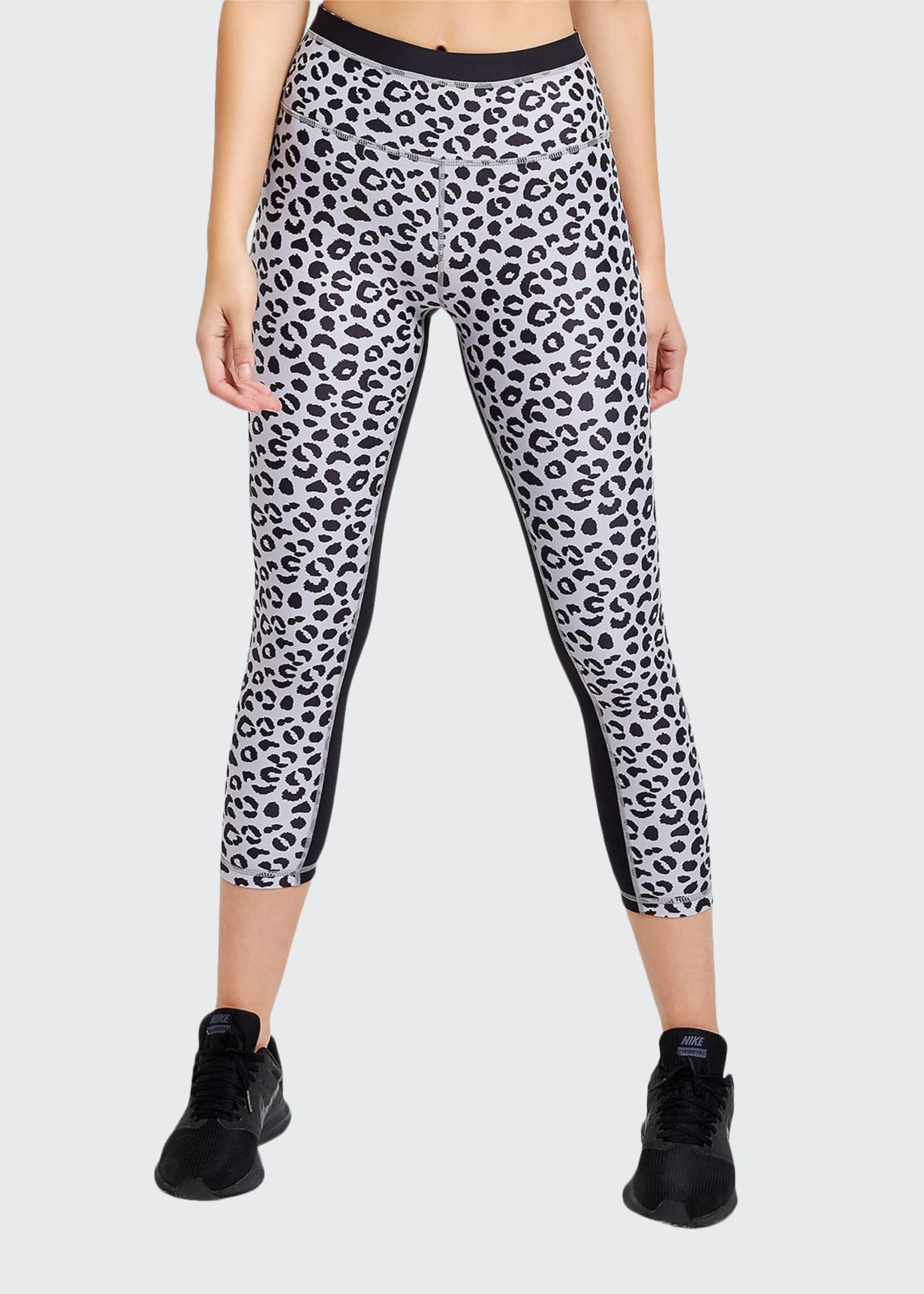 Image 1 of 3: Jagger Leopard-Print Cropped Leggings