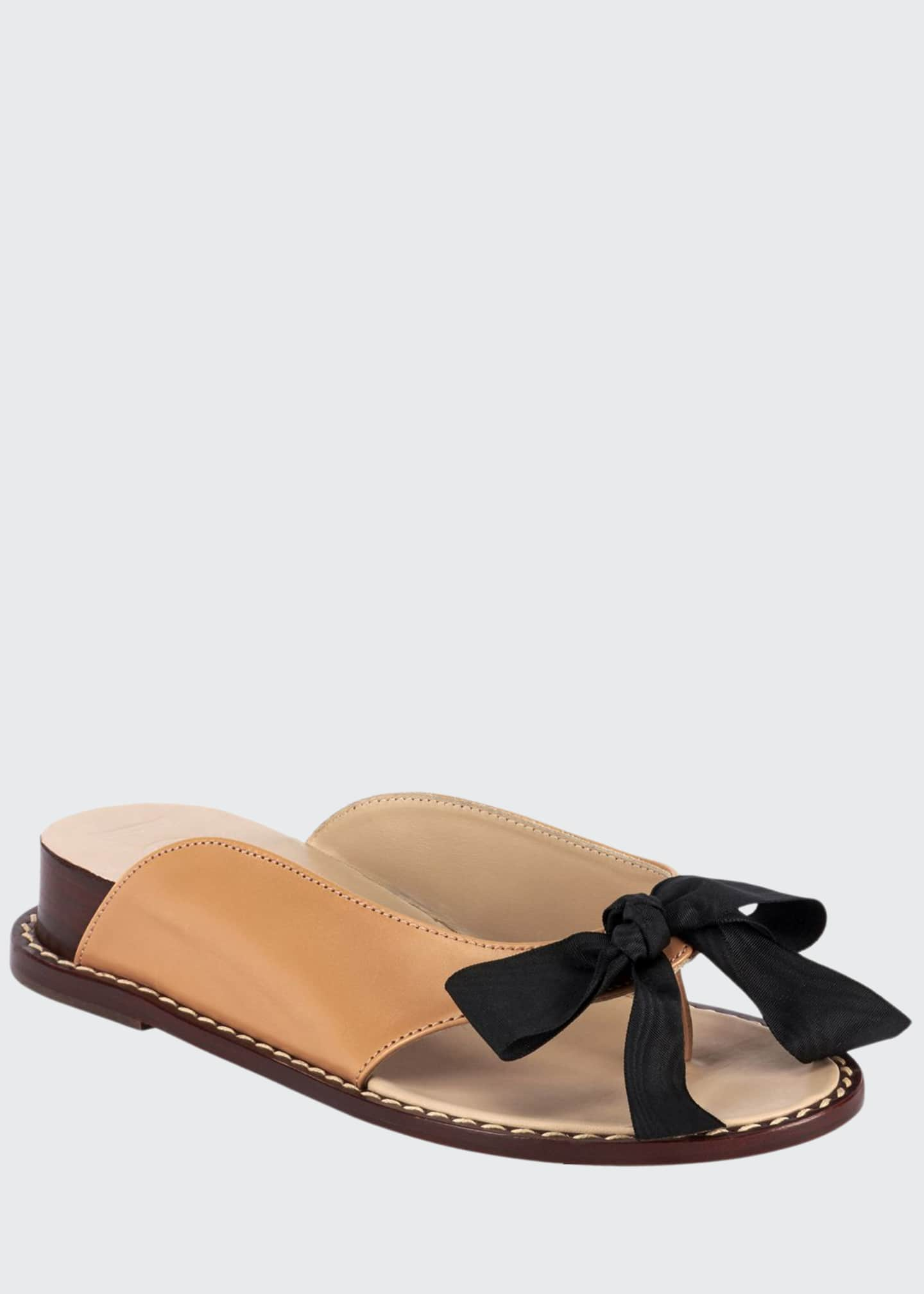 Loewe Demi-Wedge Bow Slide Sandals