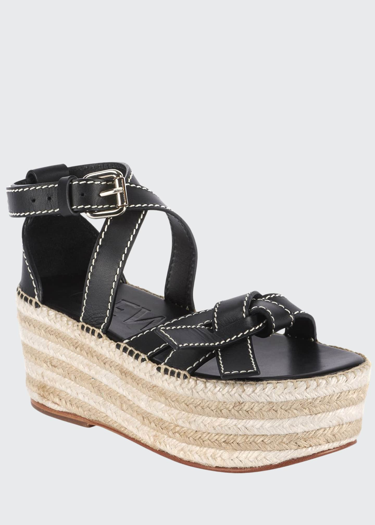 Loewe Gate Wedge High Espadrilles
