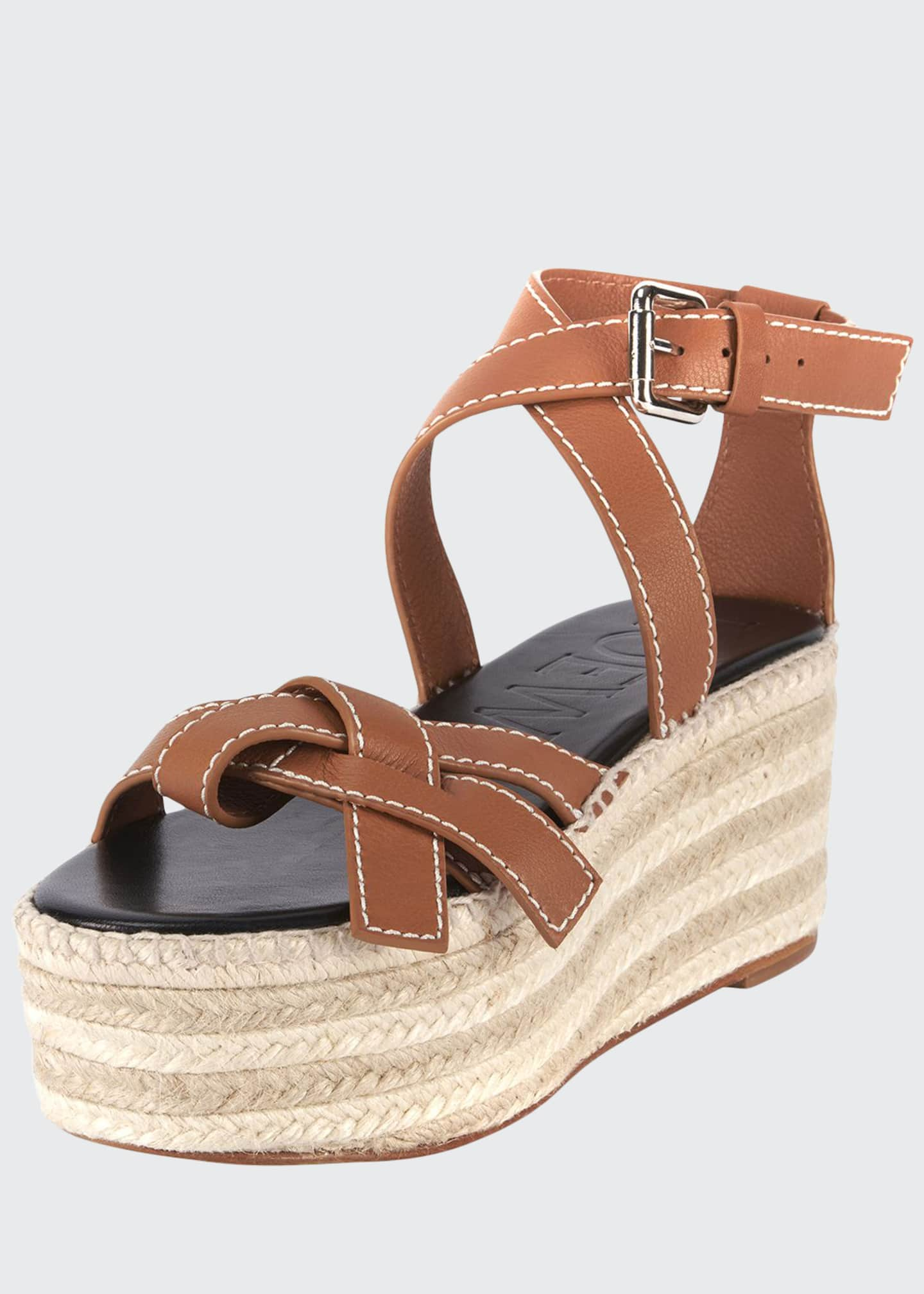 Image 1 of 4: Gate Wedge High Espadrilles