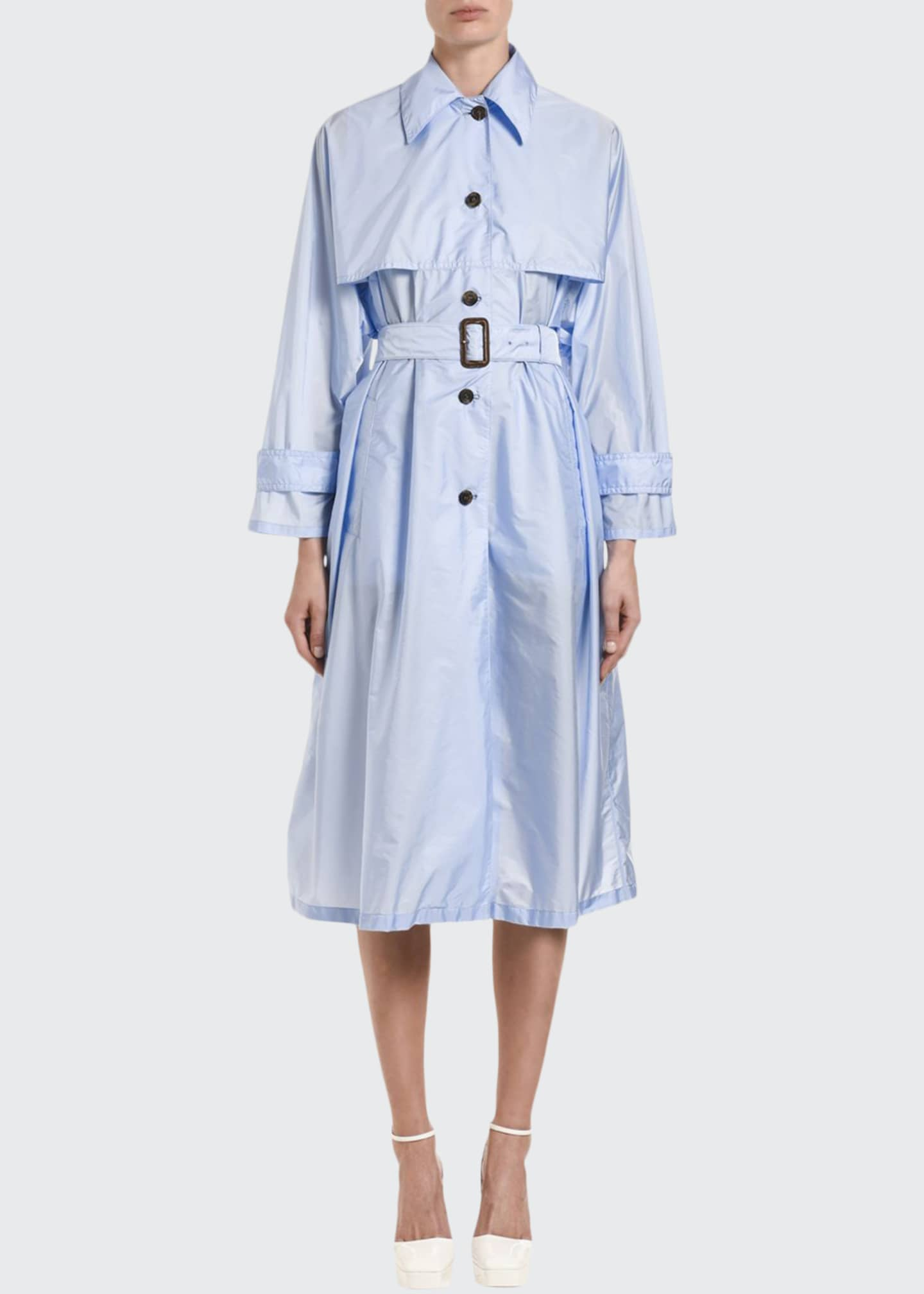 Image 1 of 3: Taffeta Trench Coat