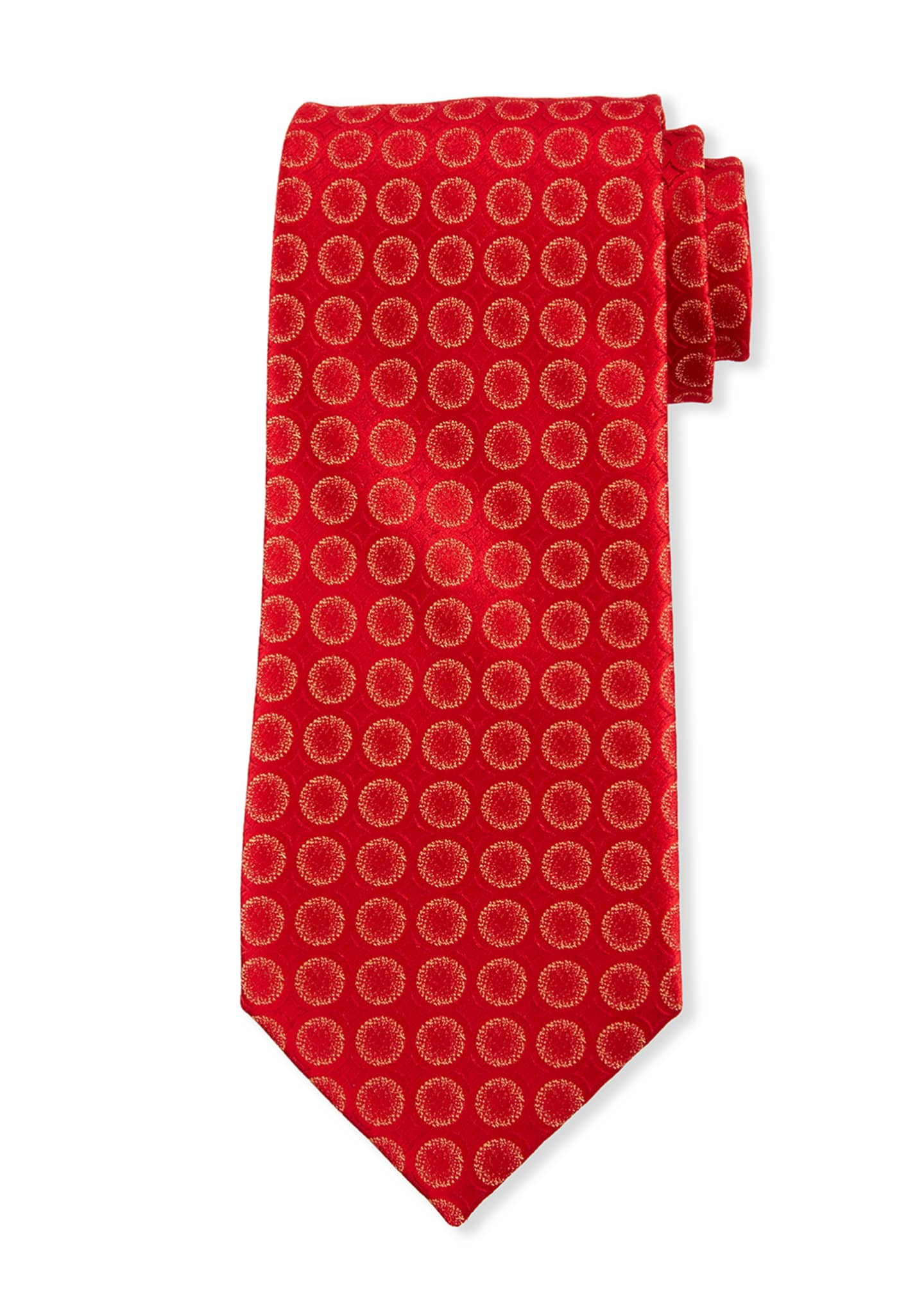 Image 1 of 1: Men's Sanded Circles Silk Tie