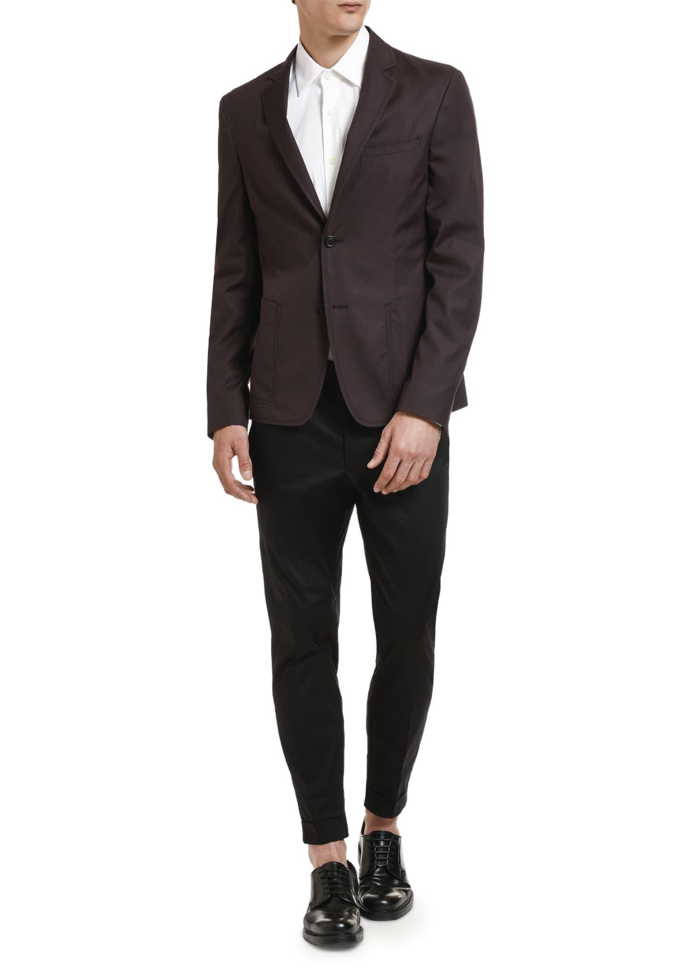 Prada Men's Poplin Two-Button Jacket