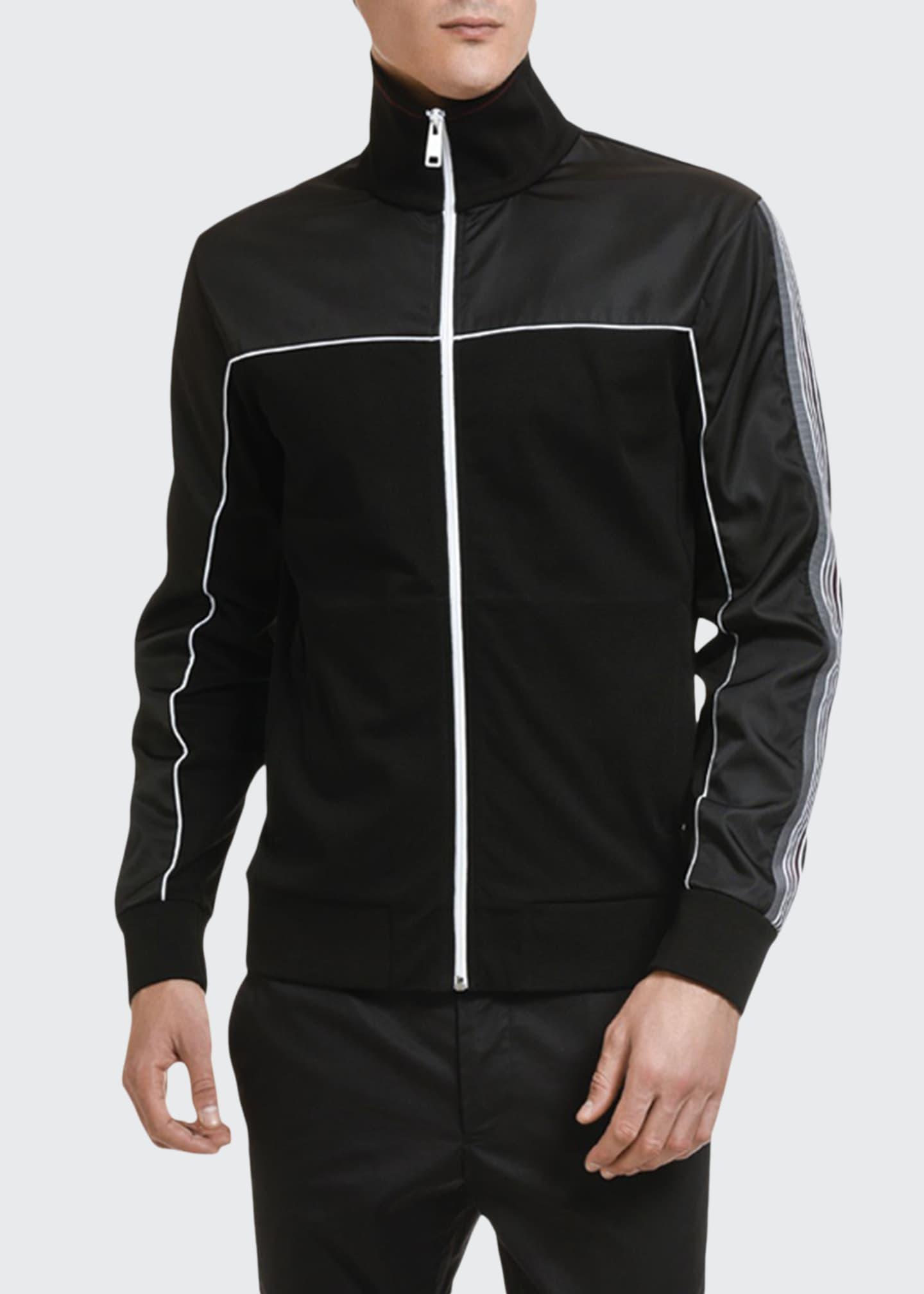 Prada Men's Nylon-Trim Track Jacket