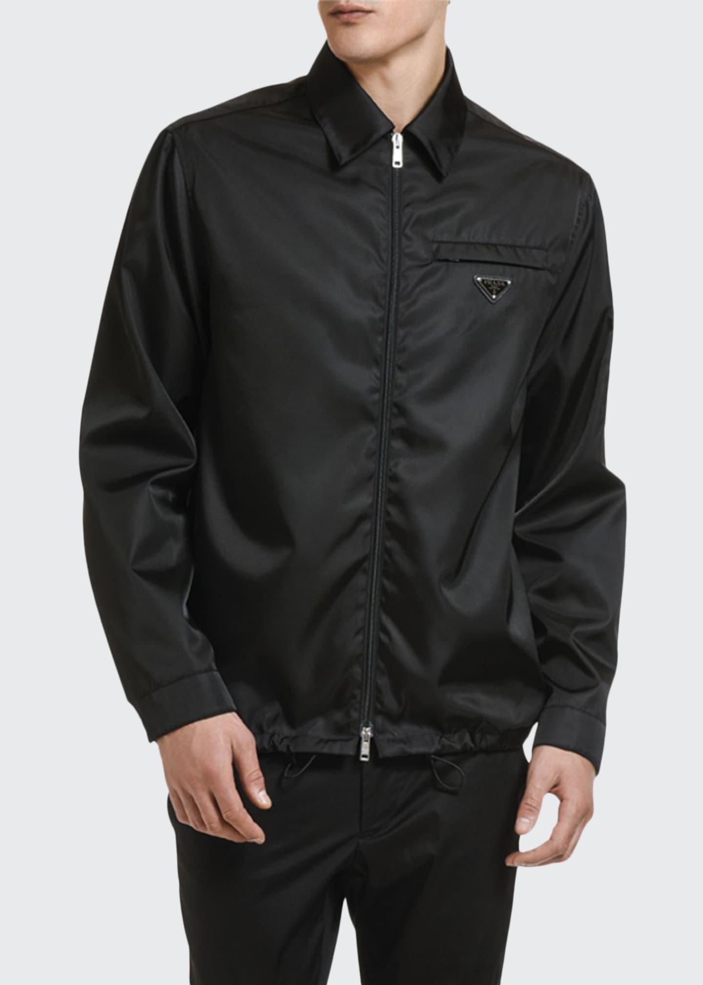 Prada Men's Gabardine Zip-Front Jacket