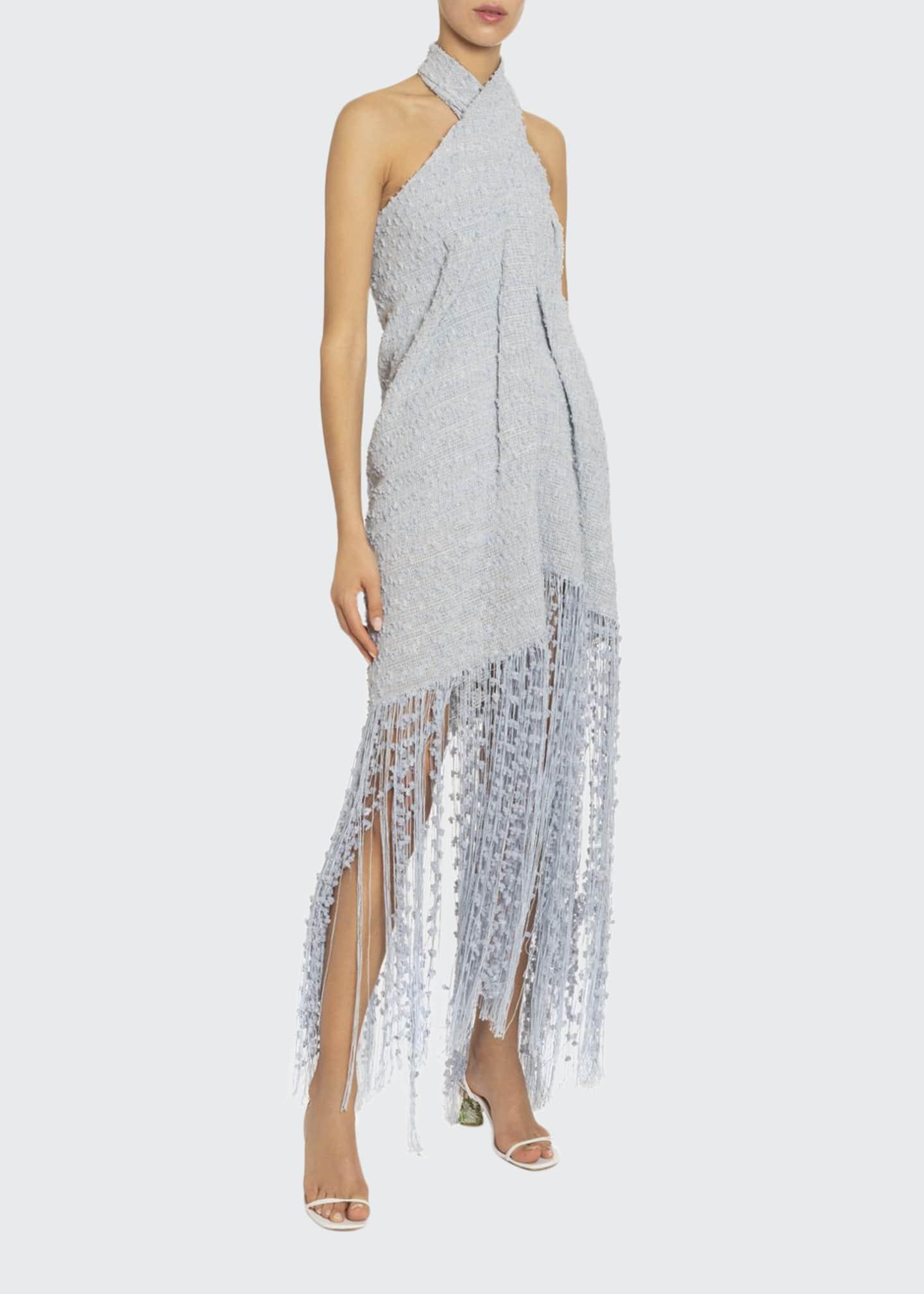 Jacquemus La Cortese Textured Halter-Neck Dress