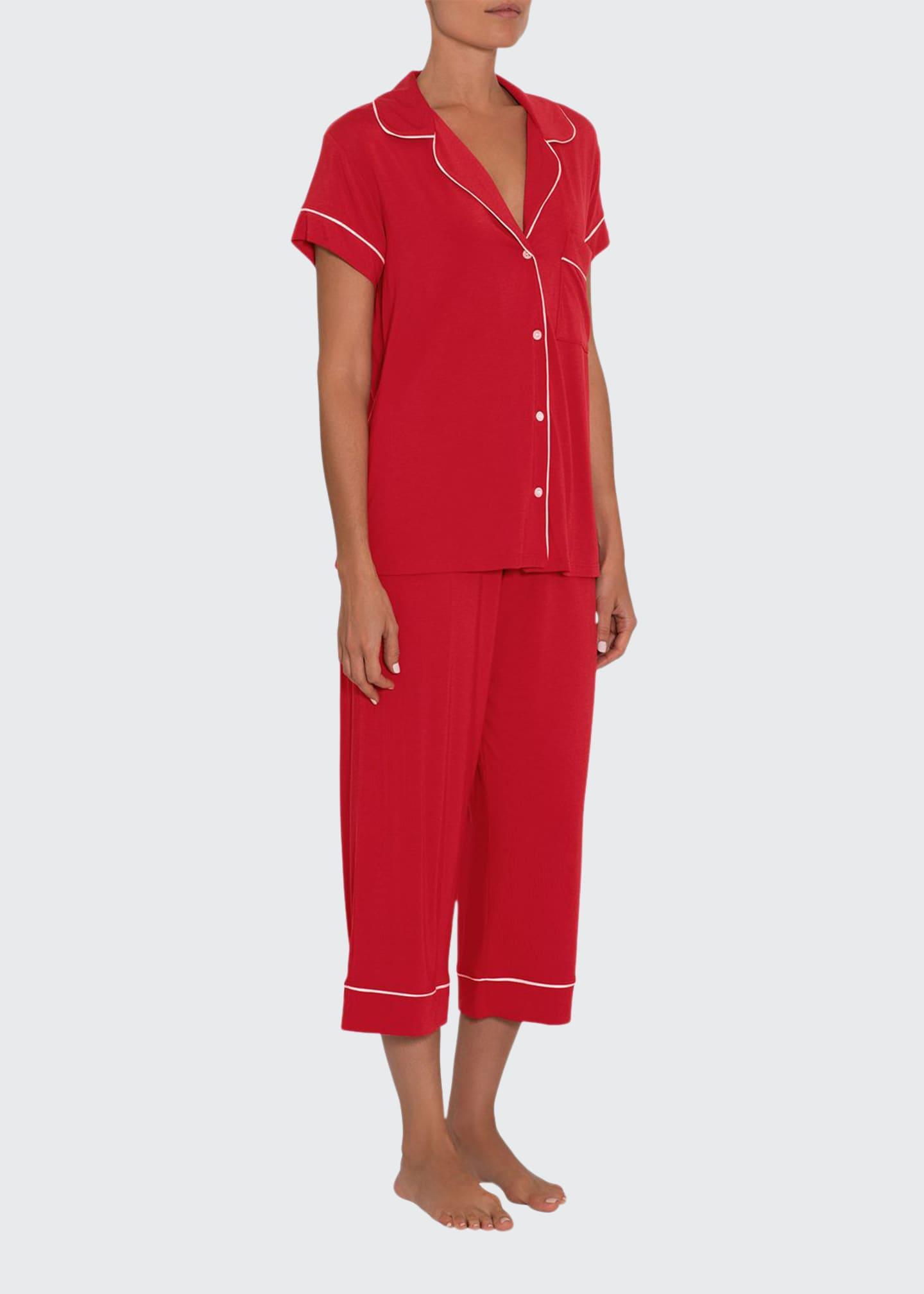 Eberjey Gisele Short-Sleeve Crop Pajama Set