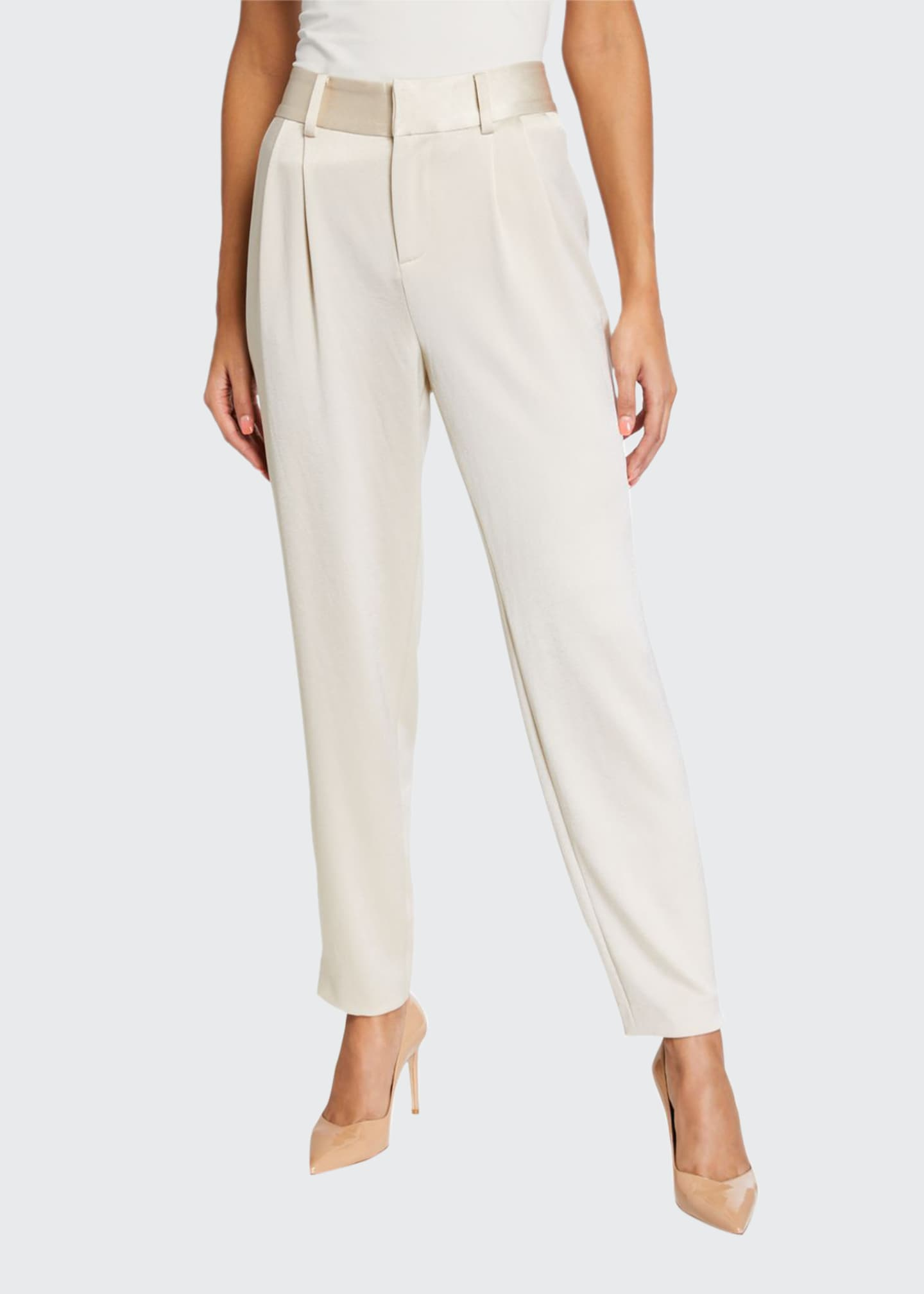 Alice + Olivia Troy Snap-Cuff Crepe Pants