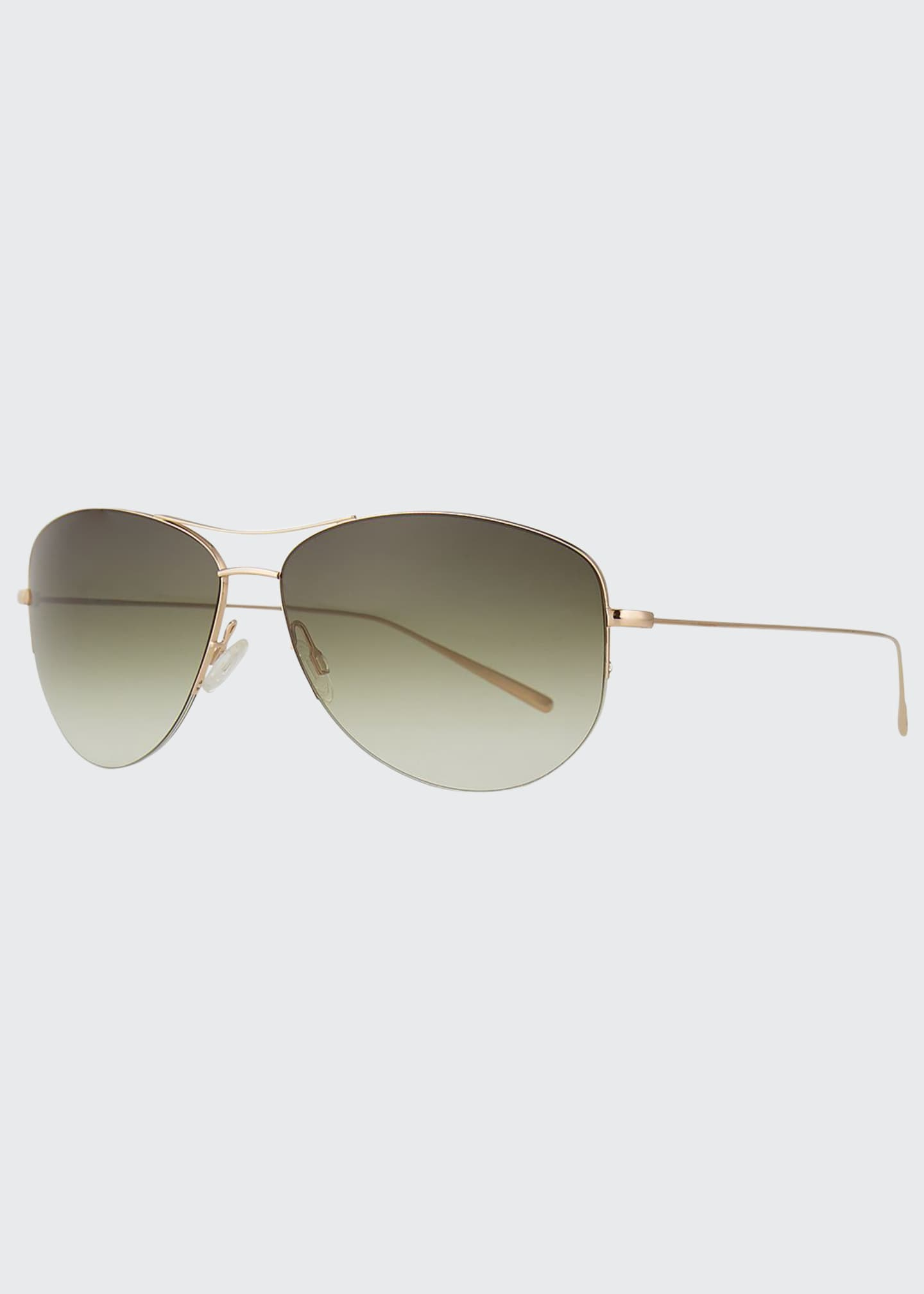 Image 1 of 3: Strummer Titanium Aviator Sunglasses