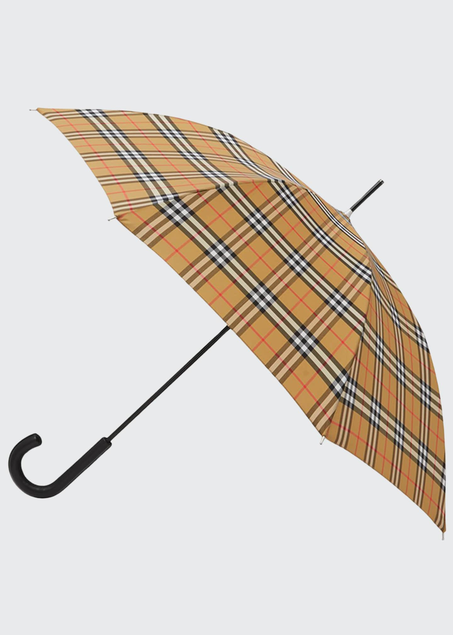Image 1 of 3: Men's Vintage Check Folding Umbrella