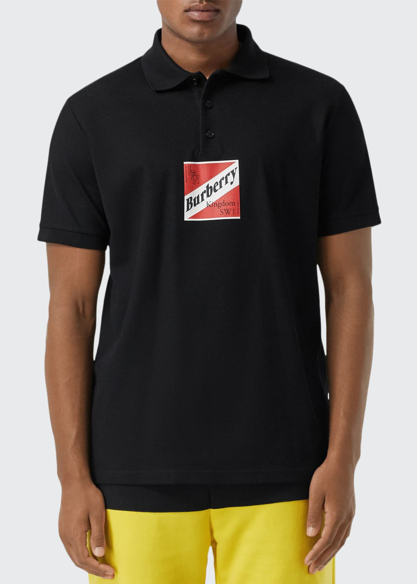 Image 1 of 3: Men's Timmons Graphic Polo Shirt
