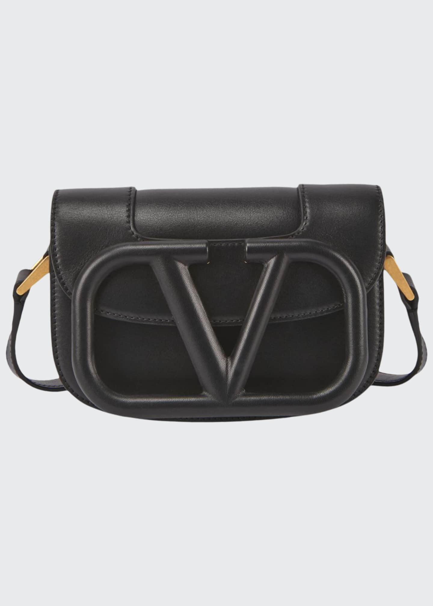 Image 1 of 3: Supervee Small Leather Shoulder Bag