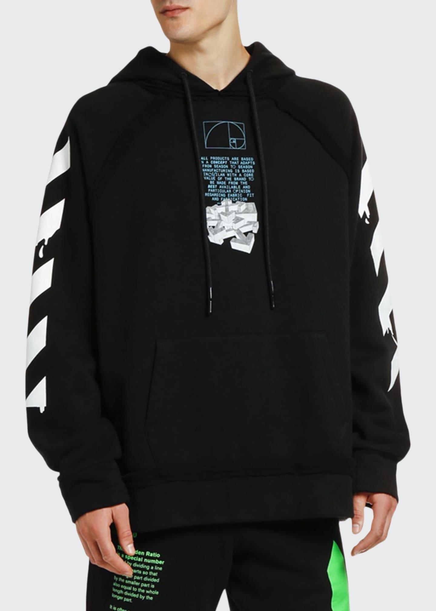 Off-White Men's Dripping Arrows Logo Hoodie Sweatshirt