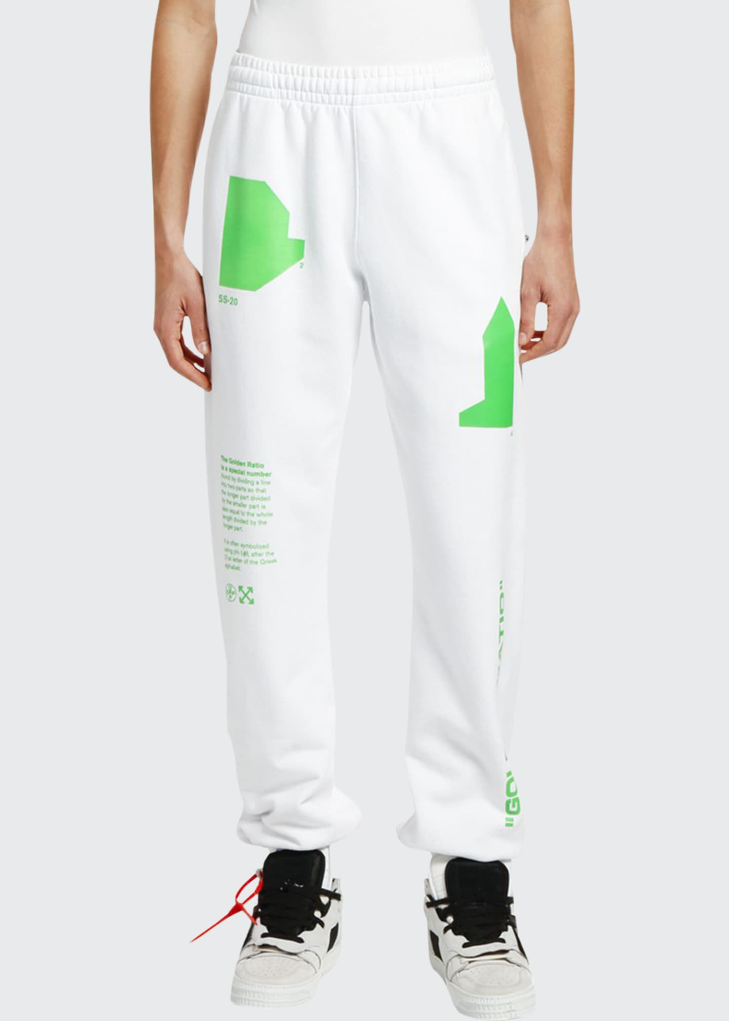 Off-White Men's Arch Shapes Slim Sweatpants