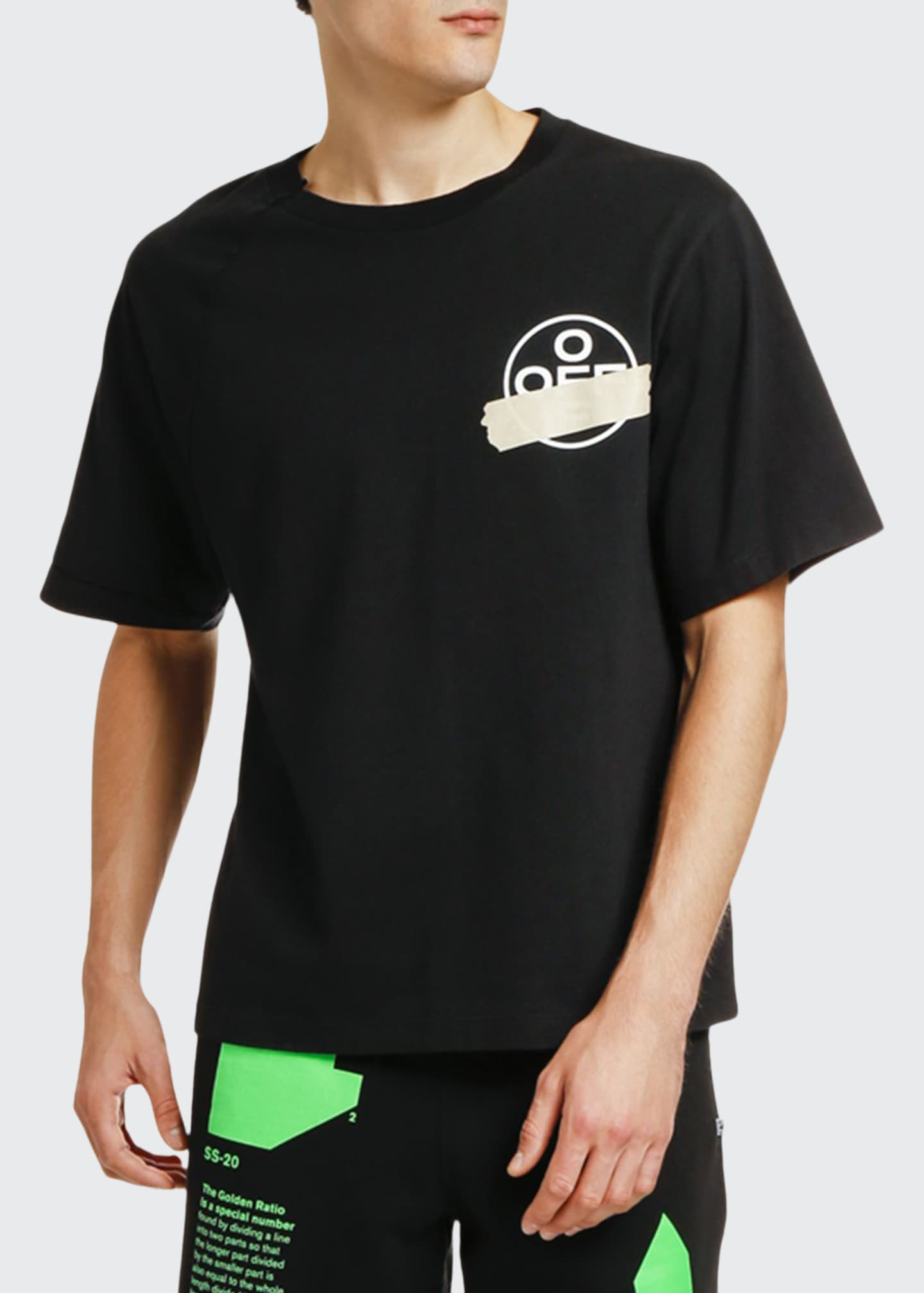 Off-White Men's Tape Arrows Reconstructed T-Shirt