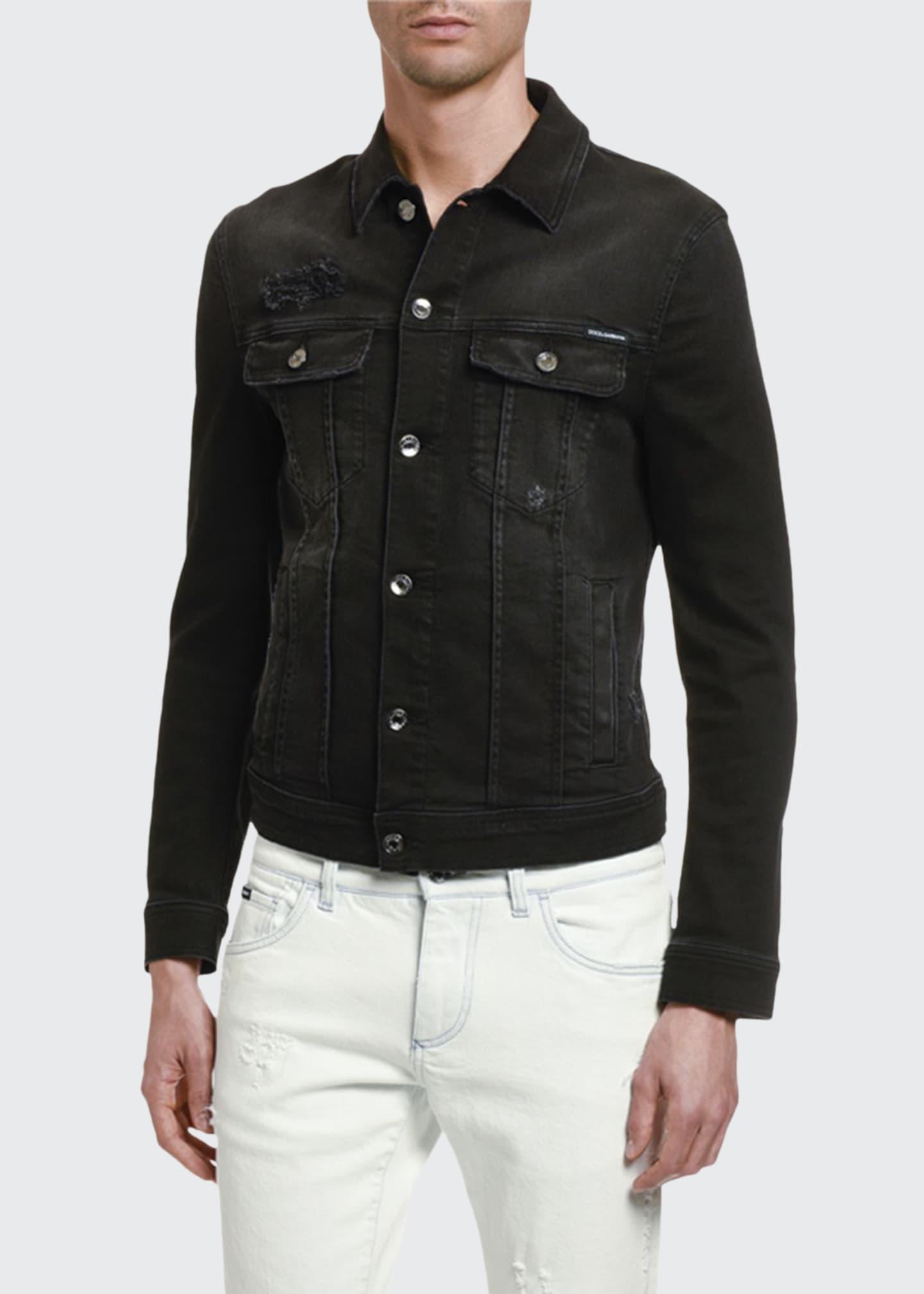 Dolce & Gabbana Men's Distressed Denim Jacket