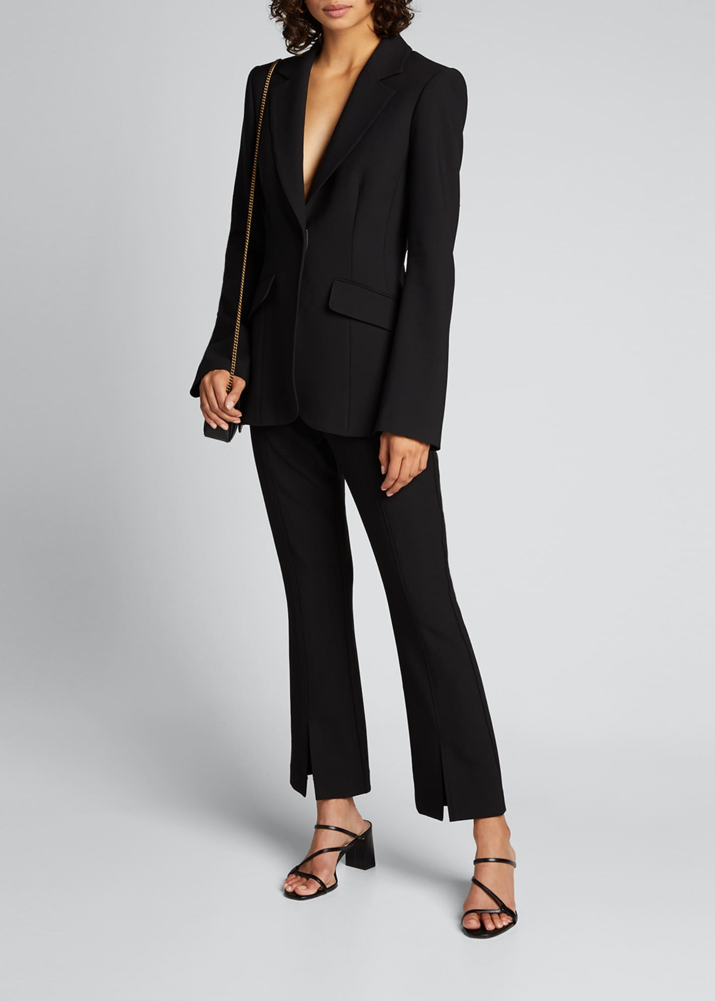 Image 1 of 5: Kym Single-Button Blazer
