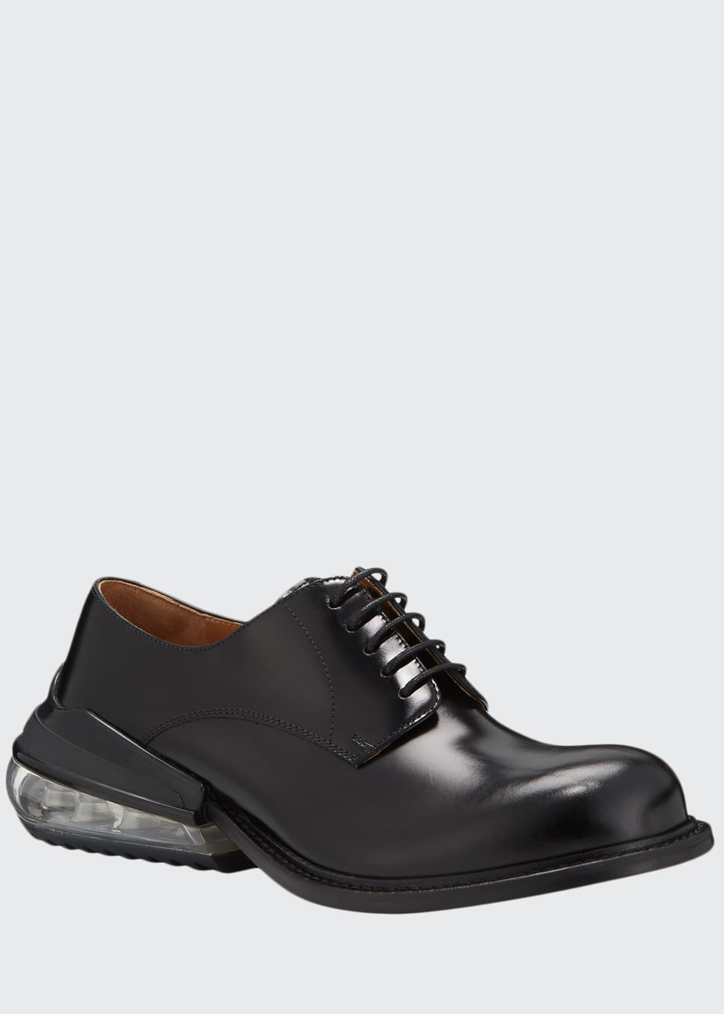 Image 1 of 5: Men's Airbag Clear-Heel Leather Derby Shoes
