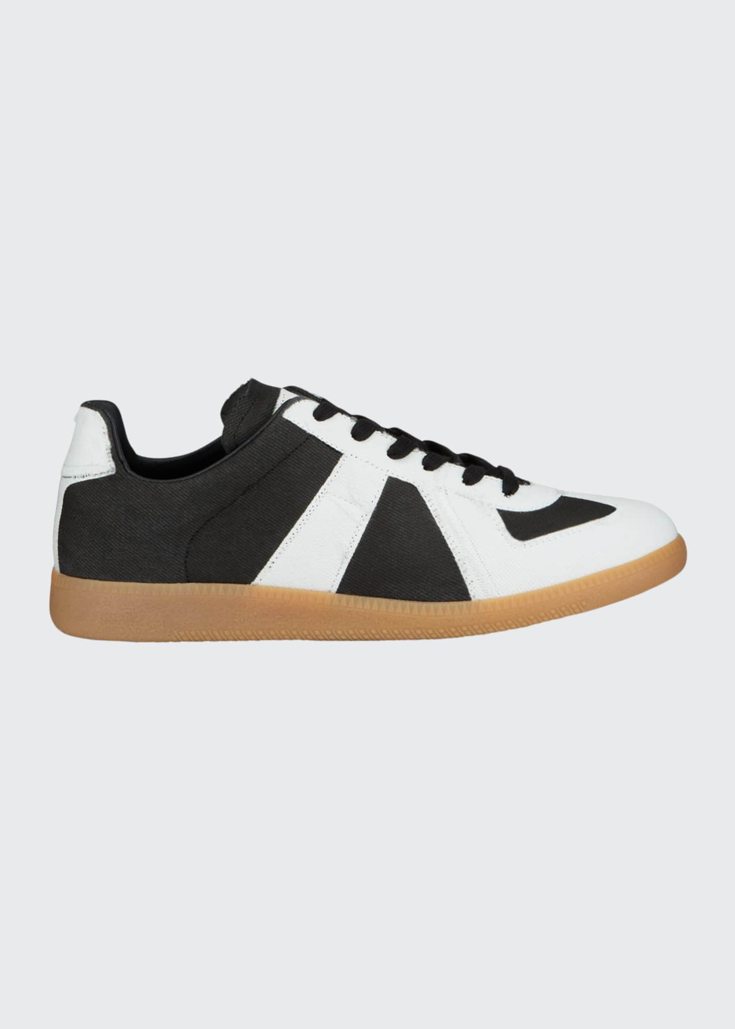 Image 1 of 4: Men's Canvas Low-Top Sneakers