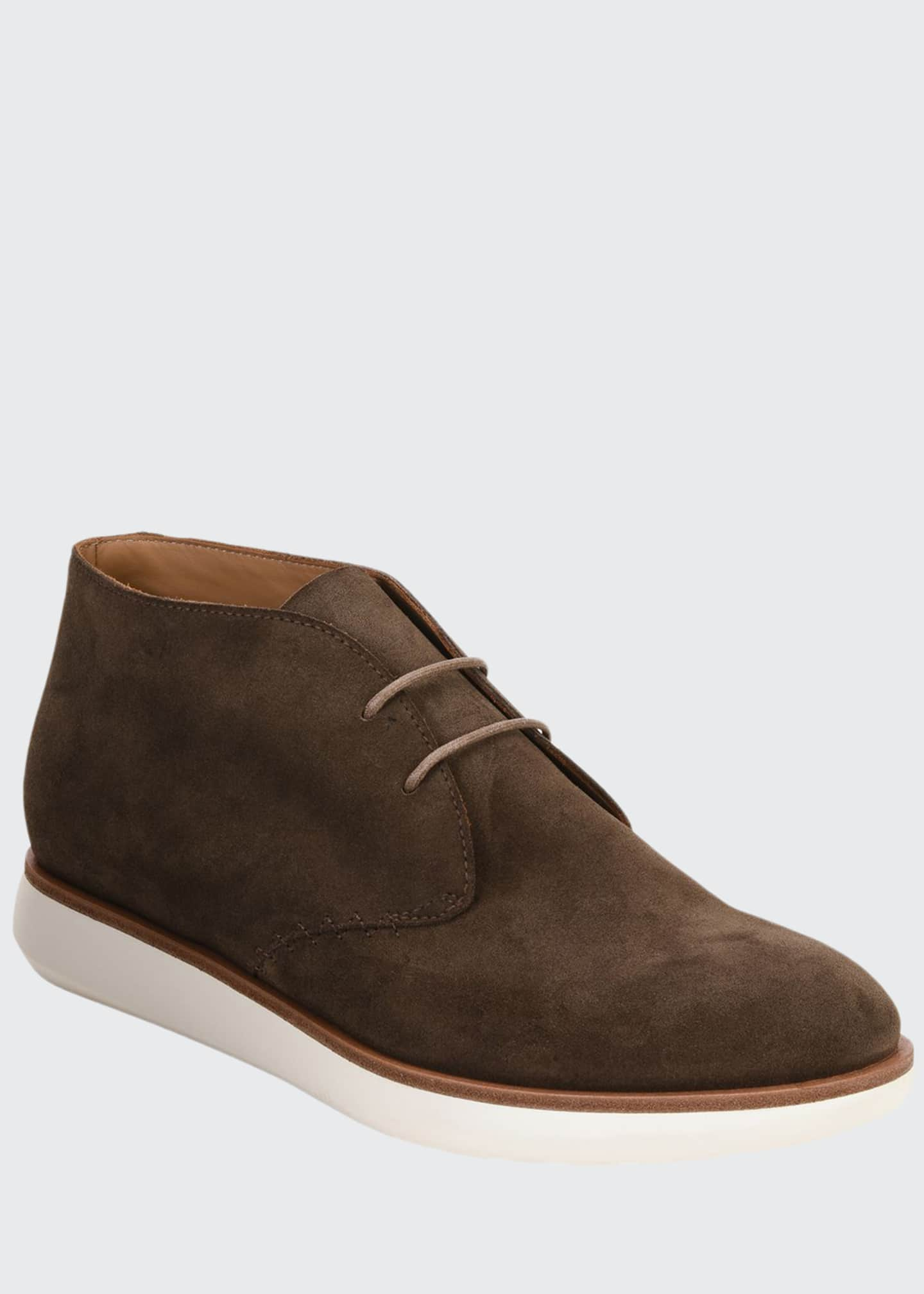 Image 1 of 4: Men's Lightweight Suede Chukka Boots