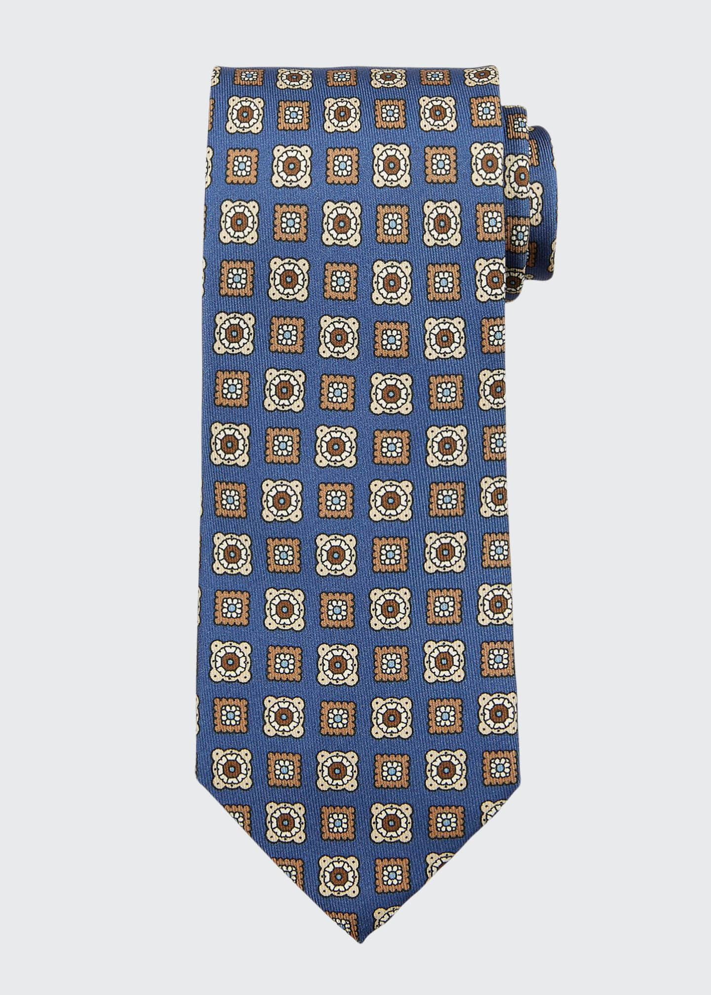 Image 1 of 1: Diamond Medallion Cotton Tie