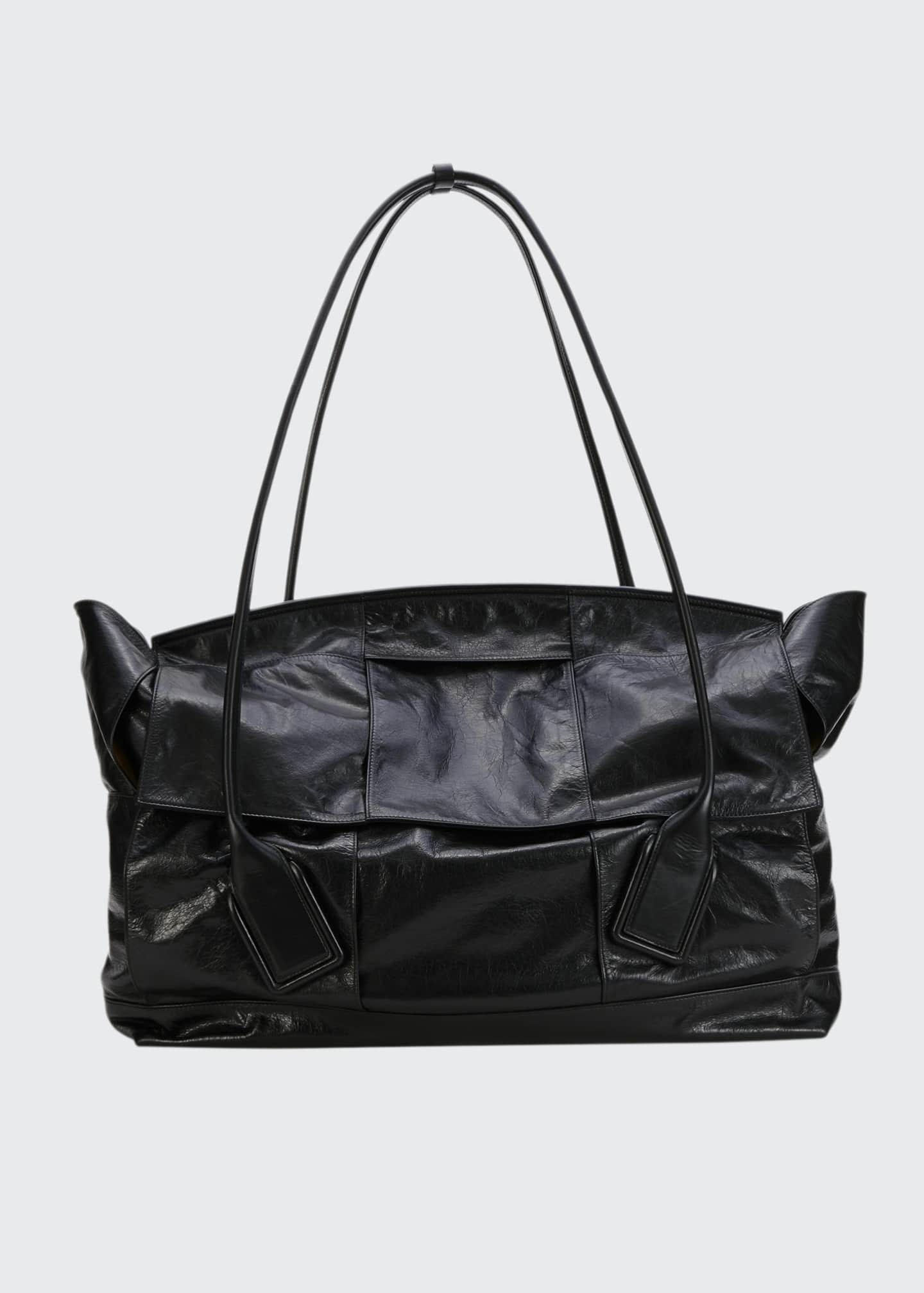 Image 1 of 2: Large Intrecciato Top Handle Tote Bag
