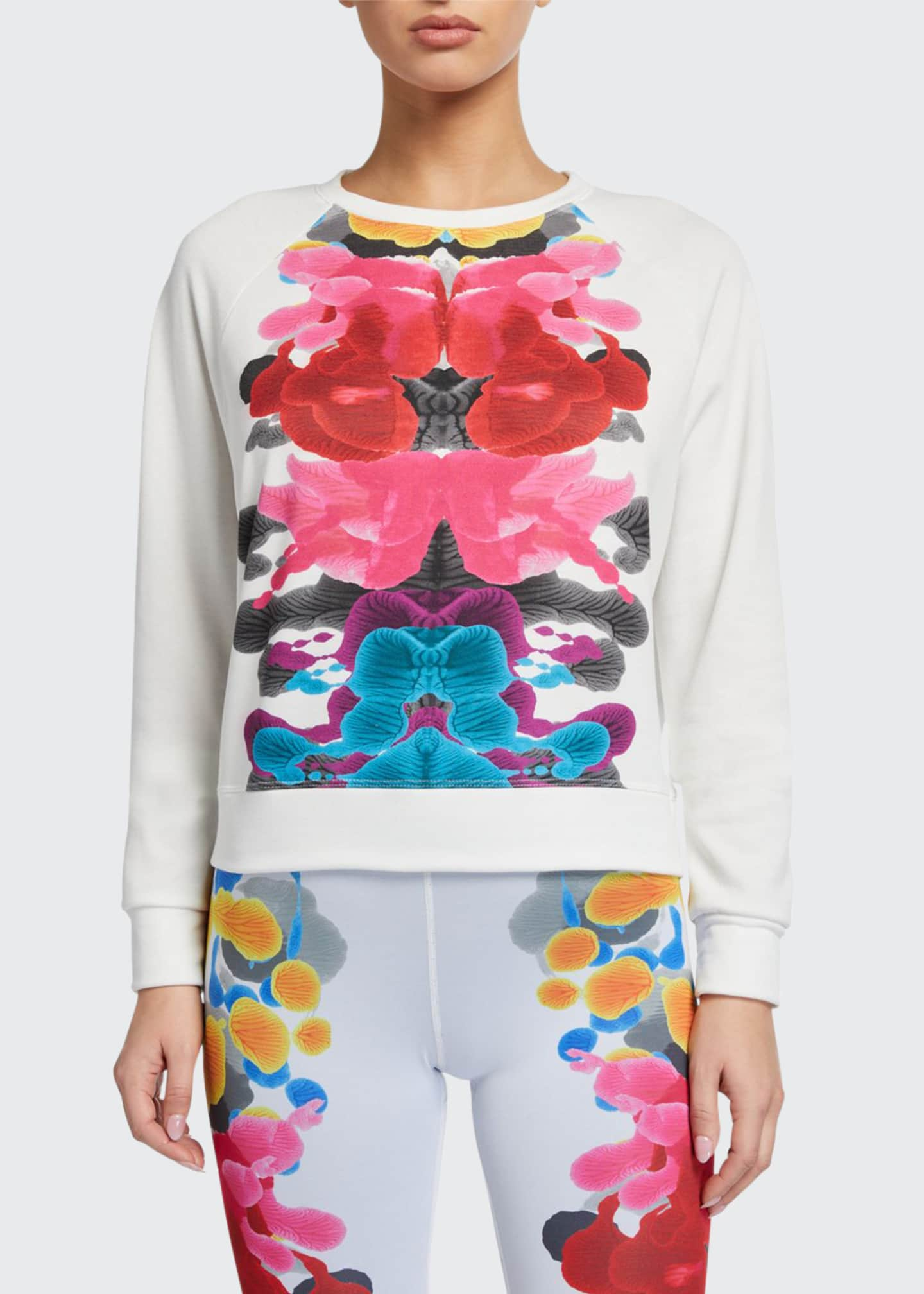 Image 1 of 2: Abstract Printed Placement Crewneck Sweatshirt