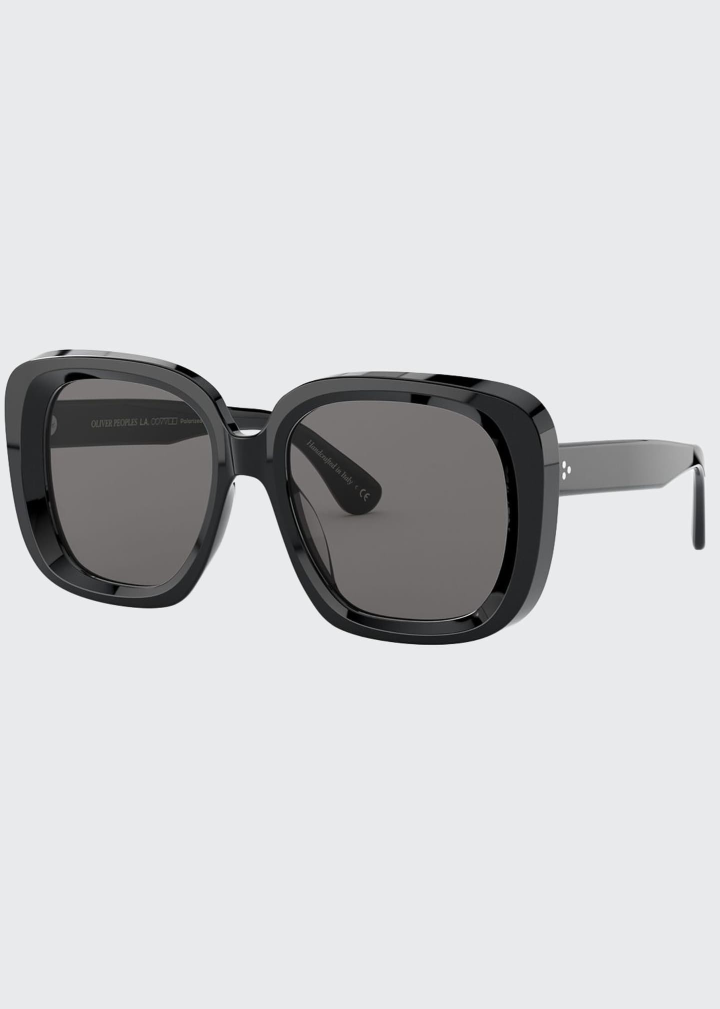 Image 1 of 2: Nella Square Acetate Sunglasses