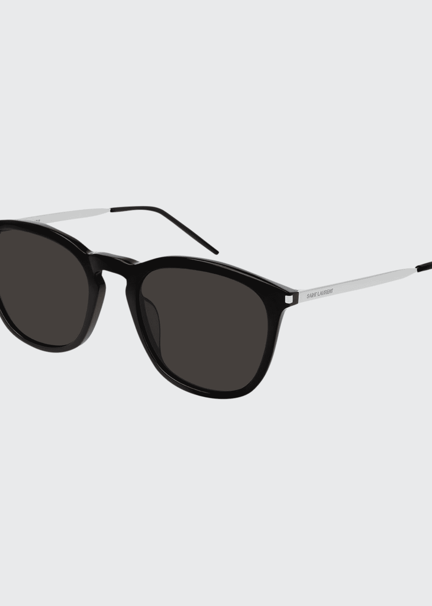 Image 1 of 1: Men's Square Acetate/Metal Sunglasses